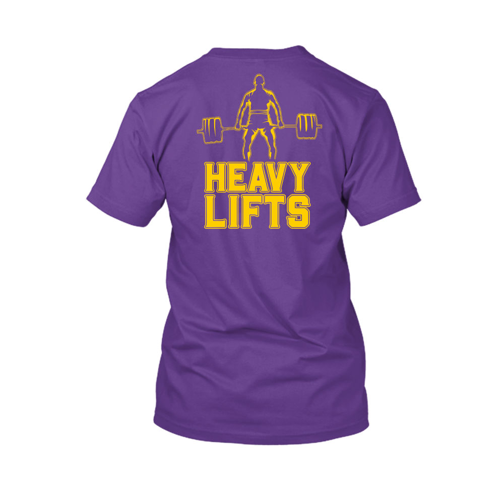 heavylifts shirt herren purple back