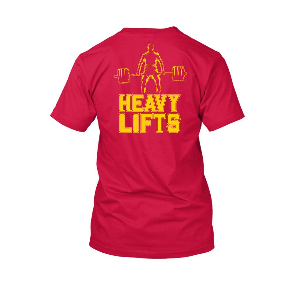 heavylifts shirt herren rot back
