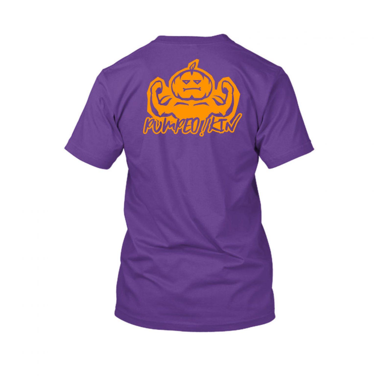 pumpedkin shirt herren lila back