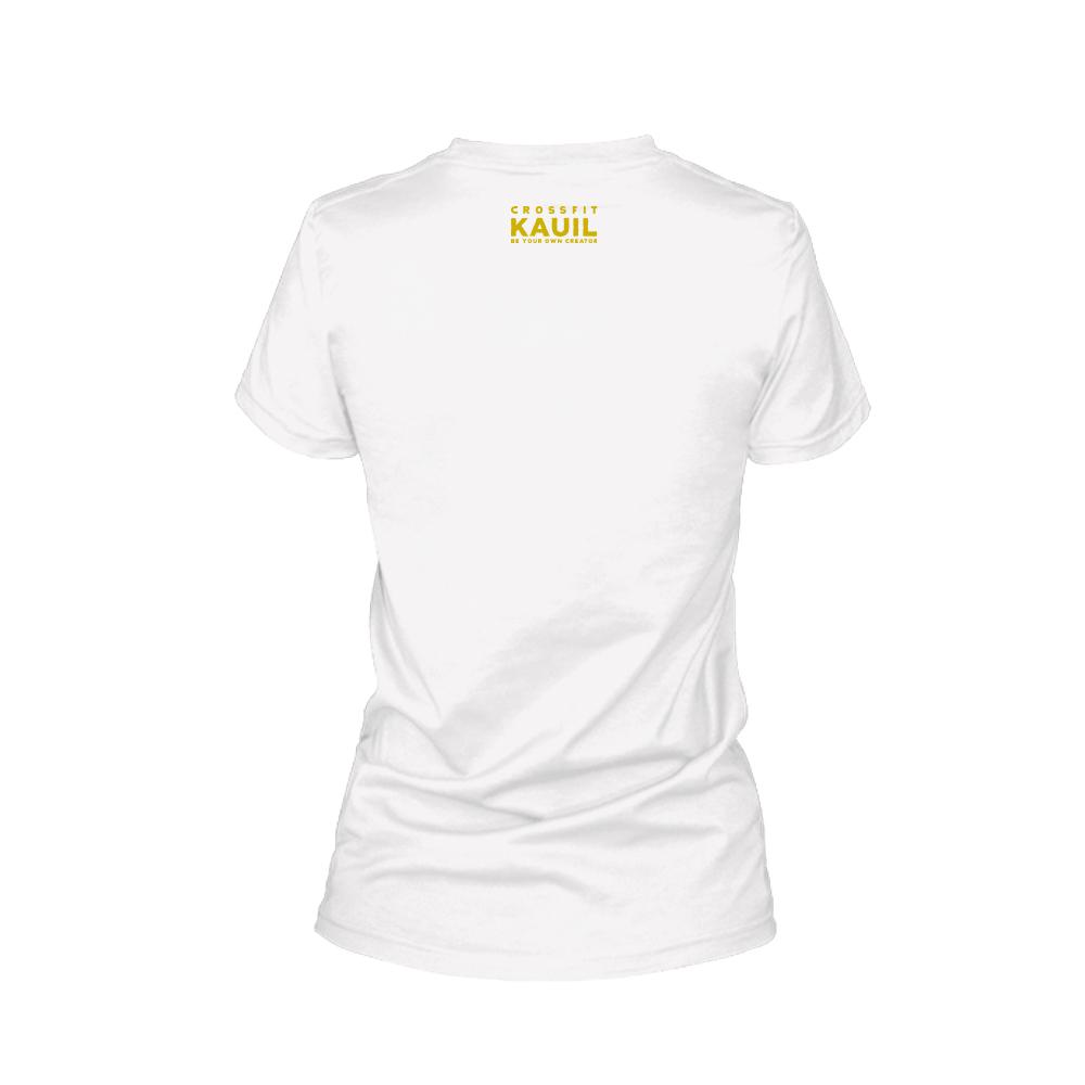 Damen Shirt REVERSED weiss gold back