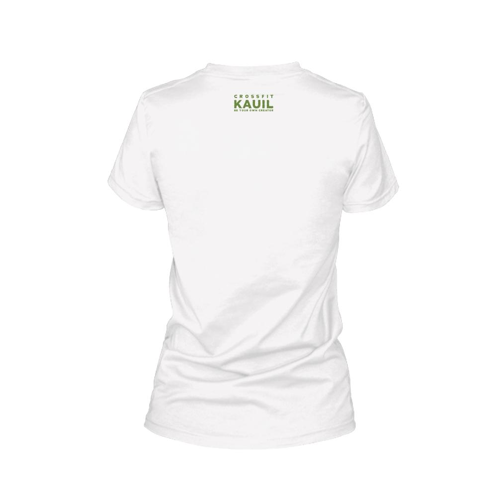 Damen Shirt REVERSED weiss green back