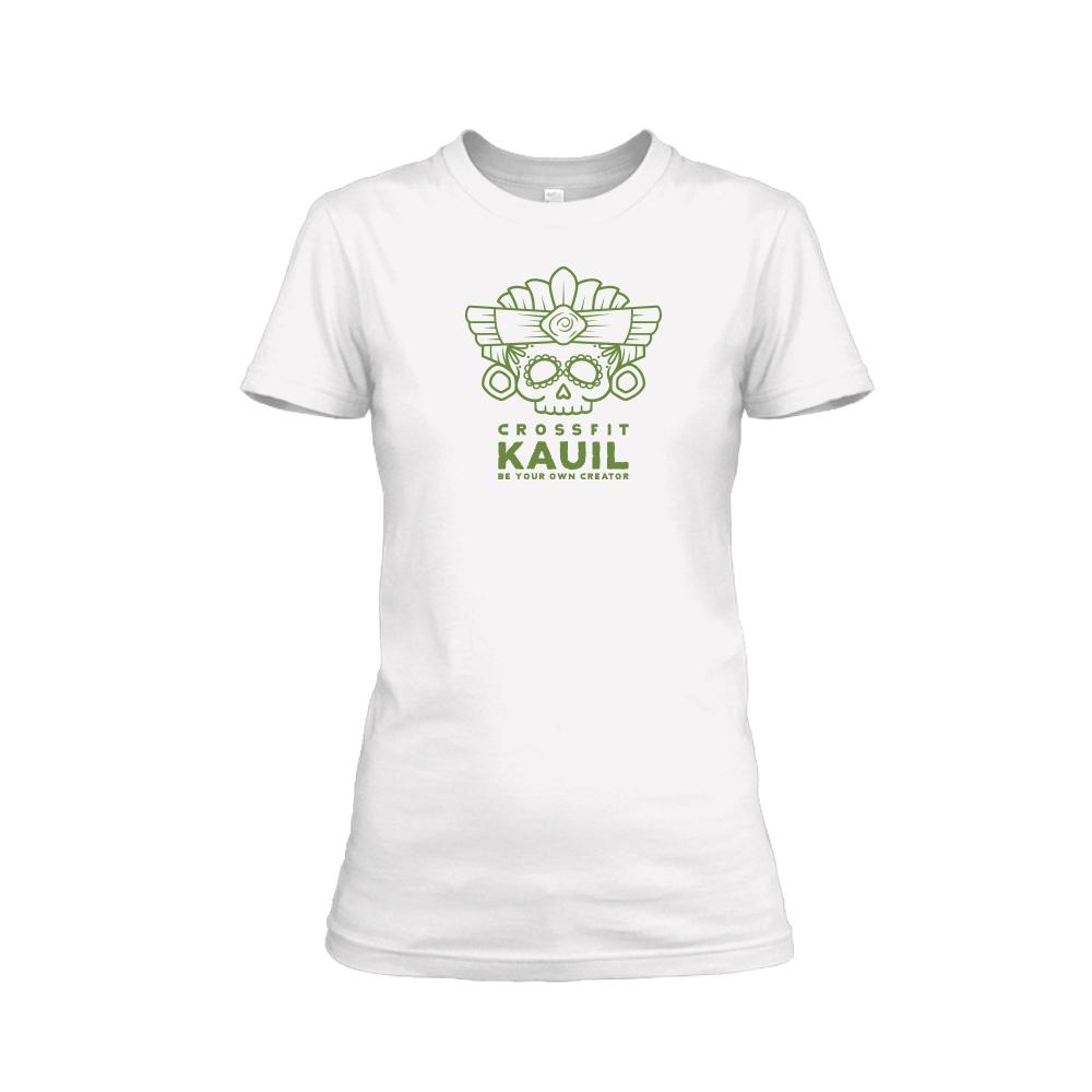 Damen Shirt REVERSED weiss green front