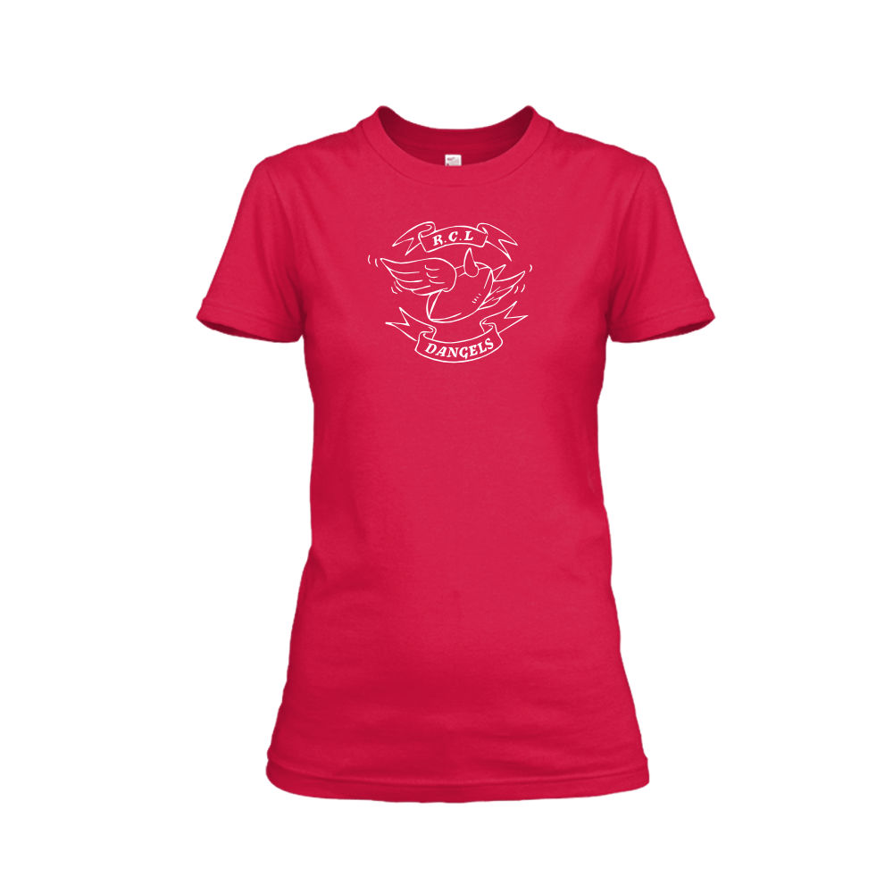 Dangels classic damen shirt red
