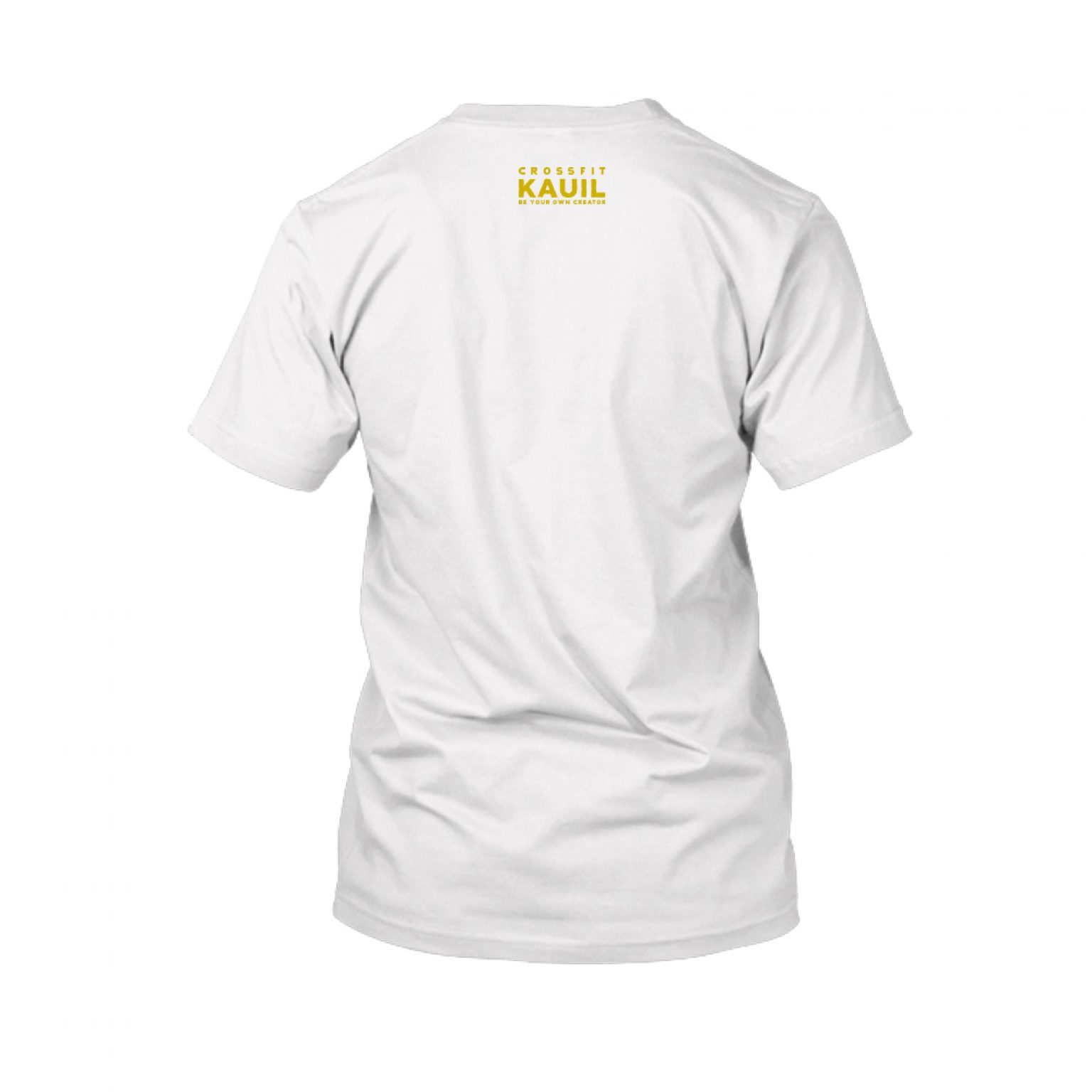 Herren Shirt Weiss gold back 1
