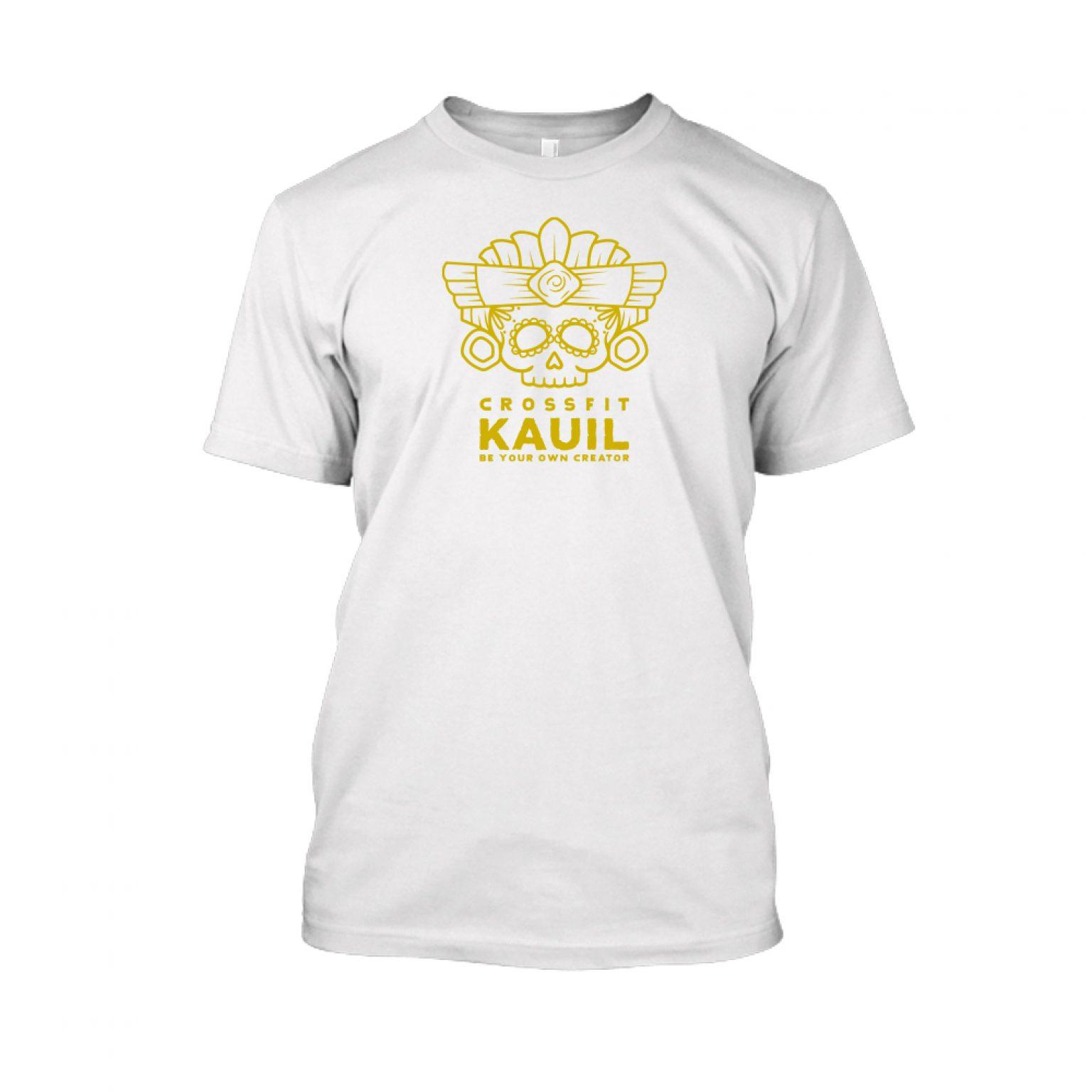 Herren Shirt Weiss gold front 1