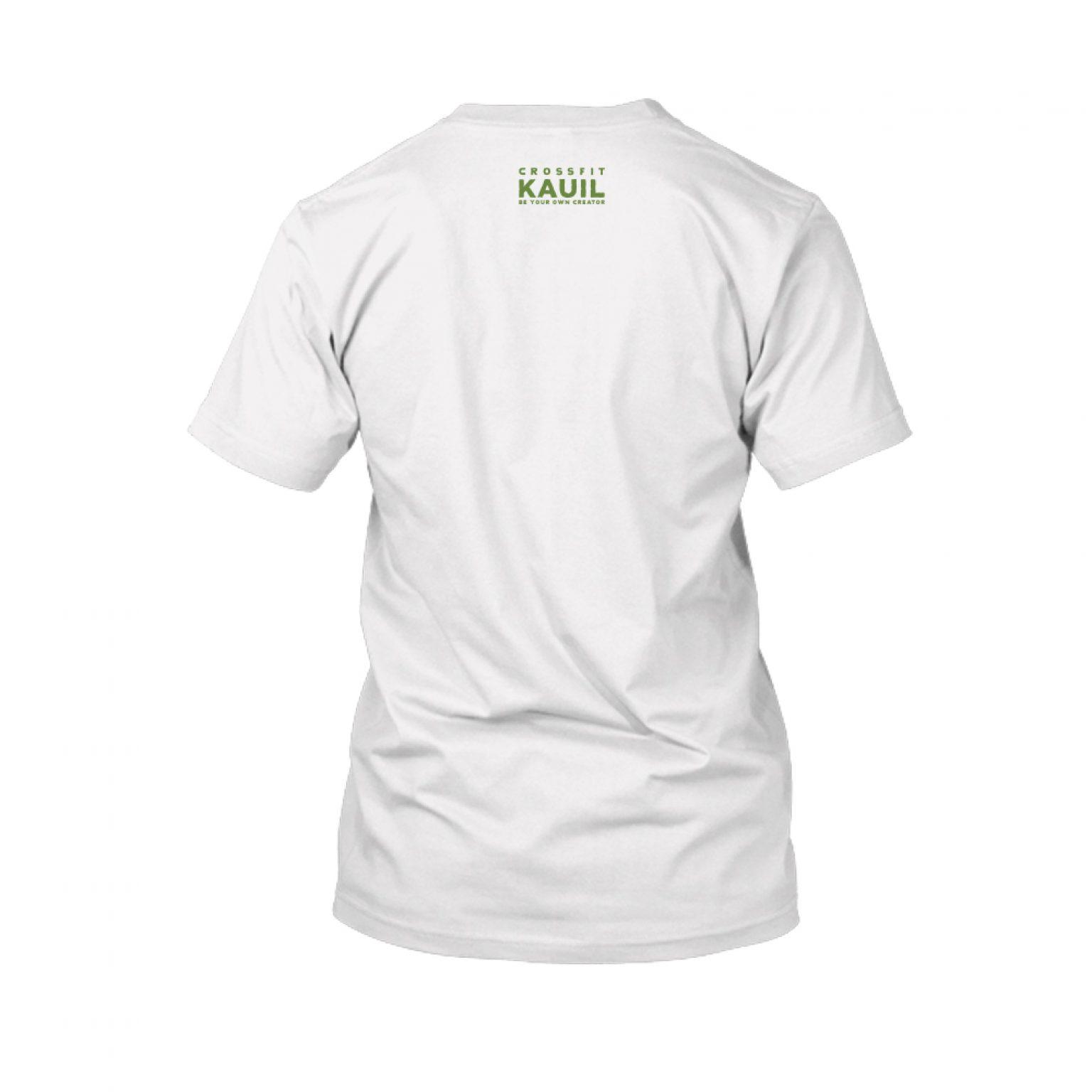 Herren Shirt Weiss green back 1