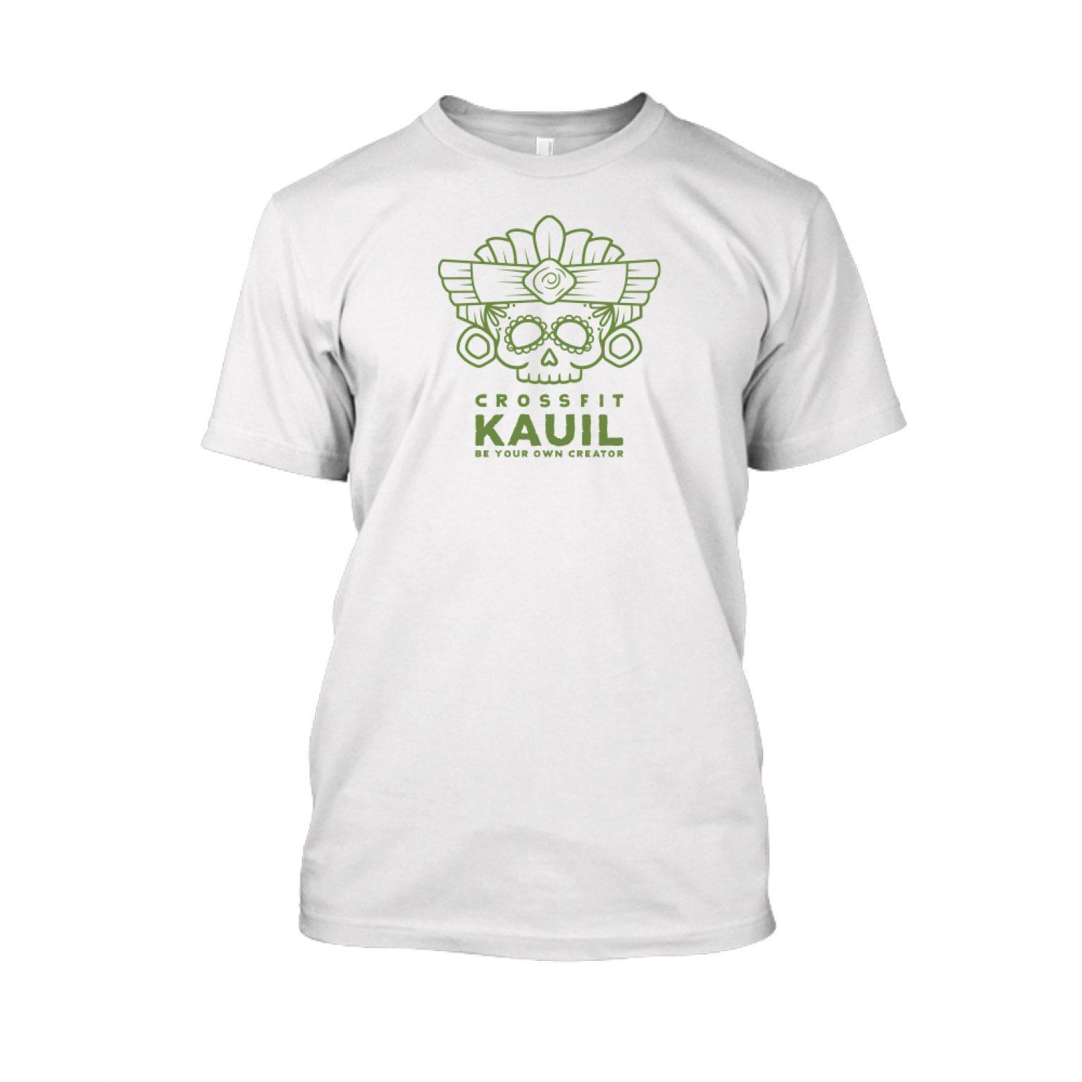 Herren Shirt Weiss green front 1