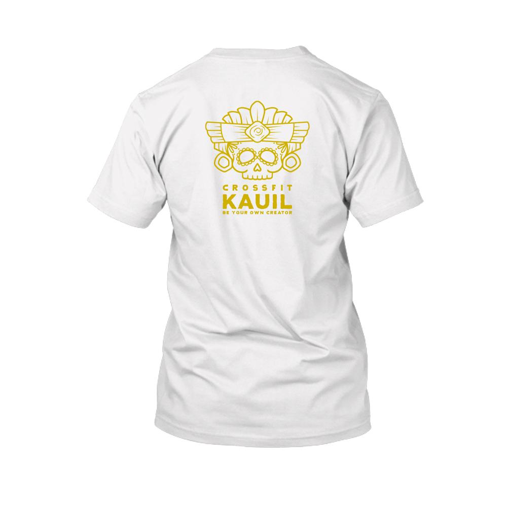 Herren Shirt weiss gold back