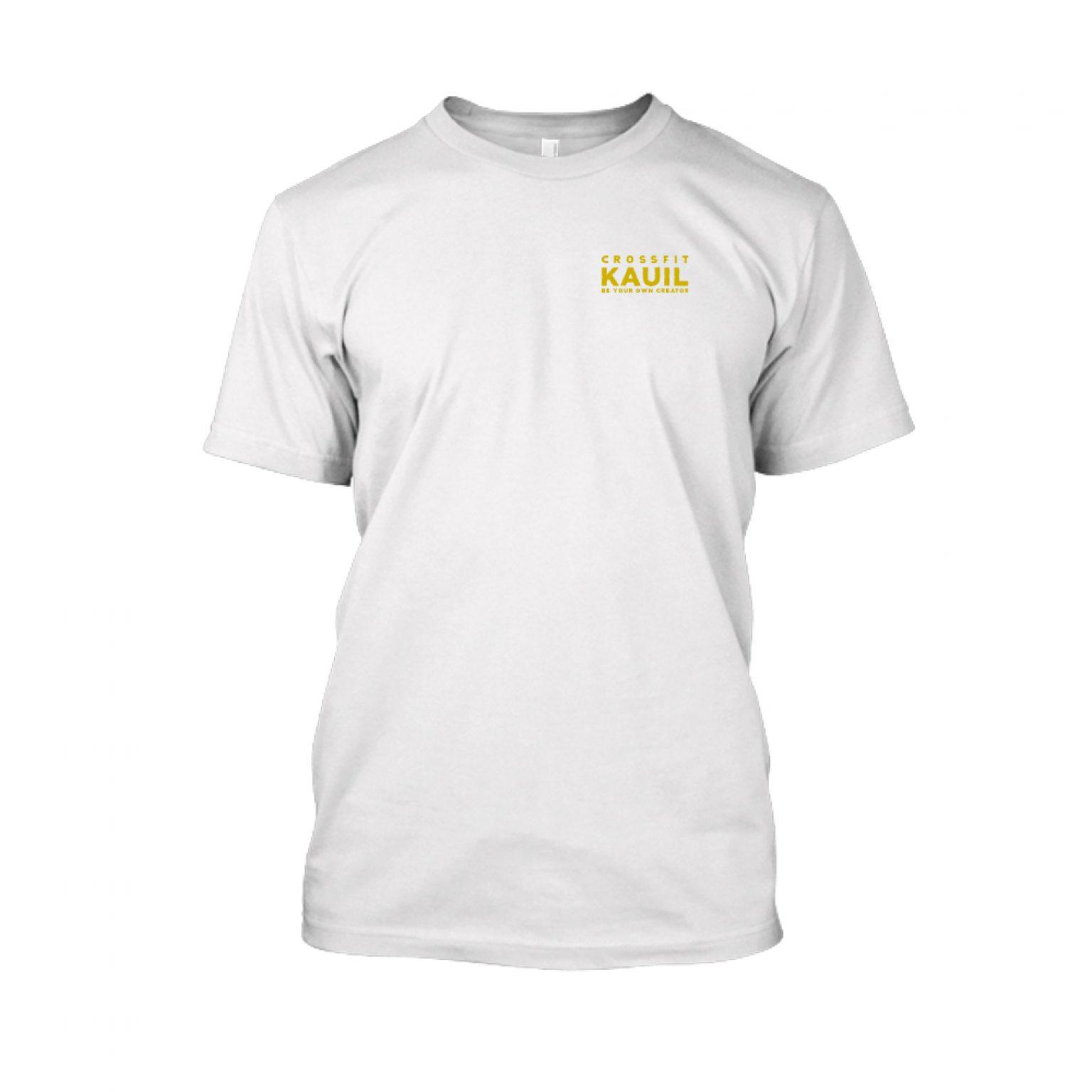 Herren Shirt weiss gold front