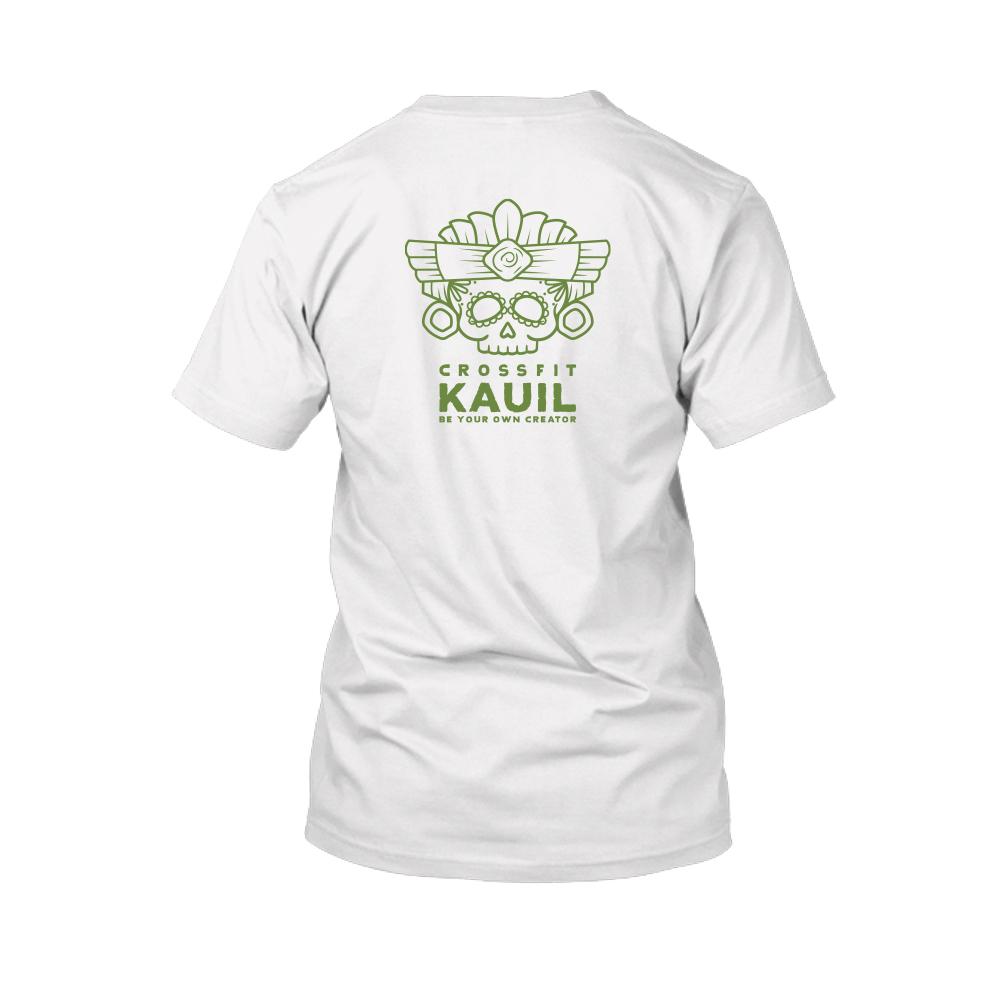 Herren Shirt weiss green back