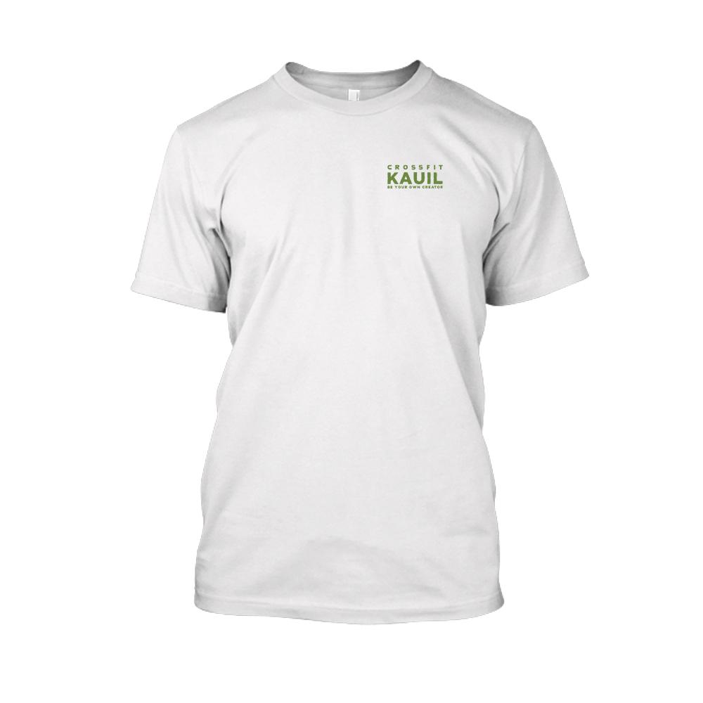 Herren Shirt weiss green front