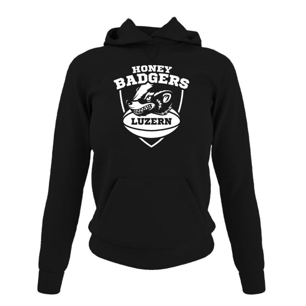 Honeybadgers hoodie damen black