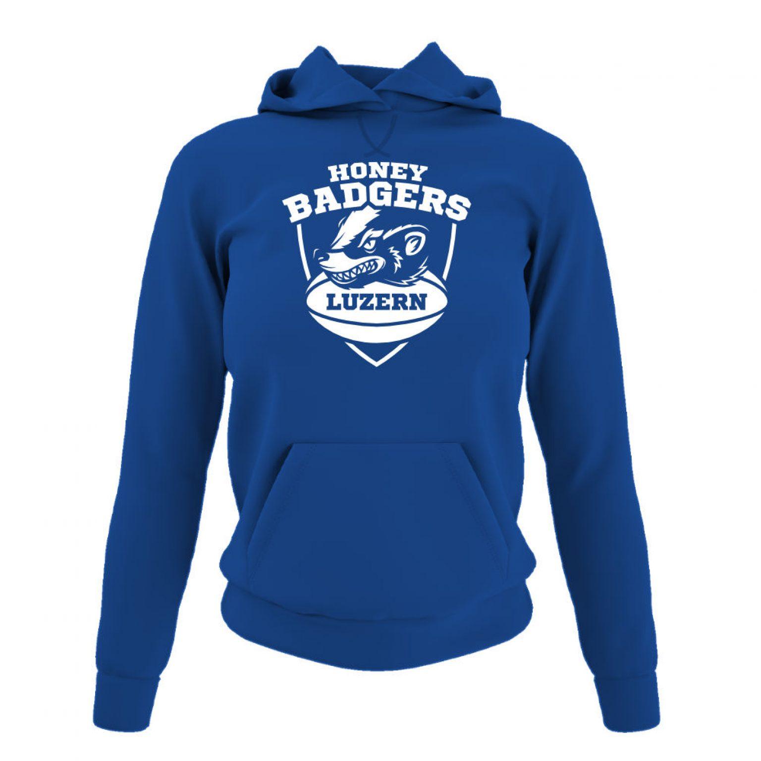 Honeybadgers hoodie damen blue