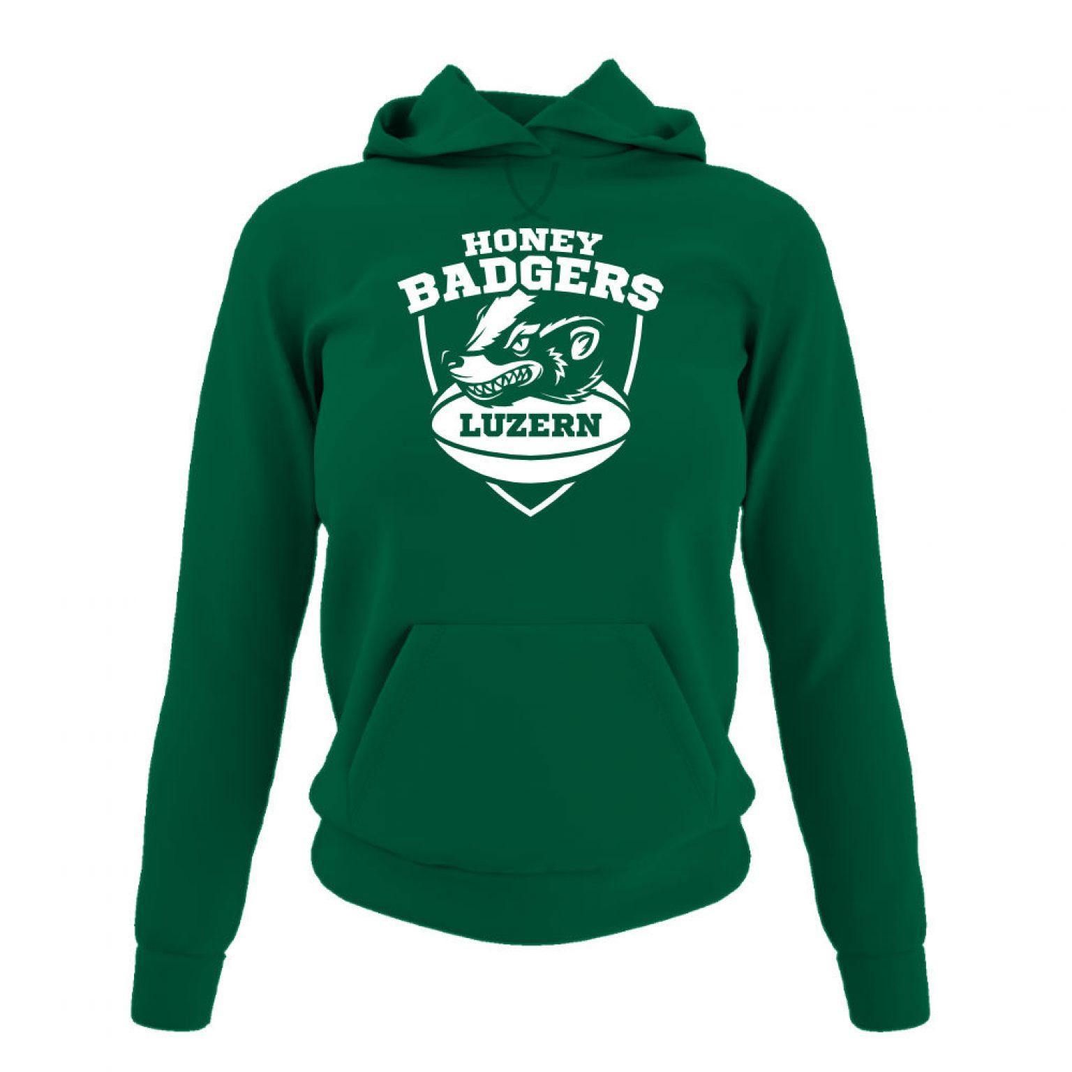 Honeybadgers hoodie damen green