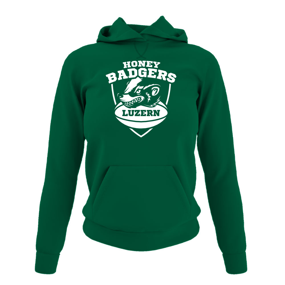 Honeybadgers hoodie damen green