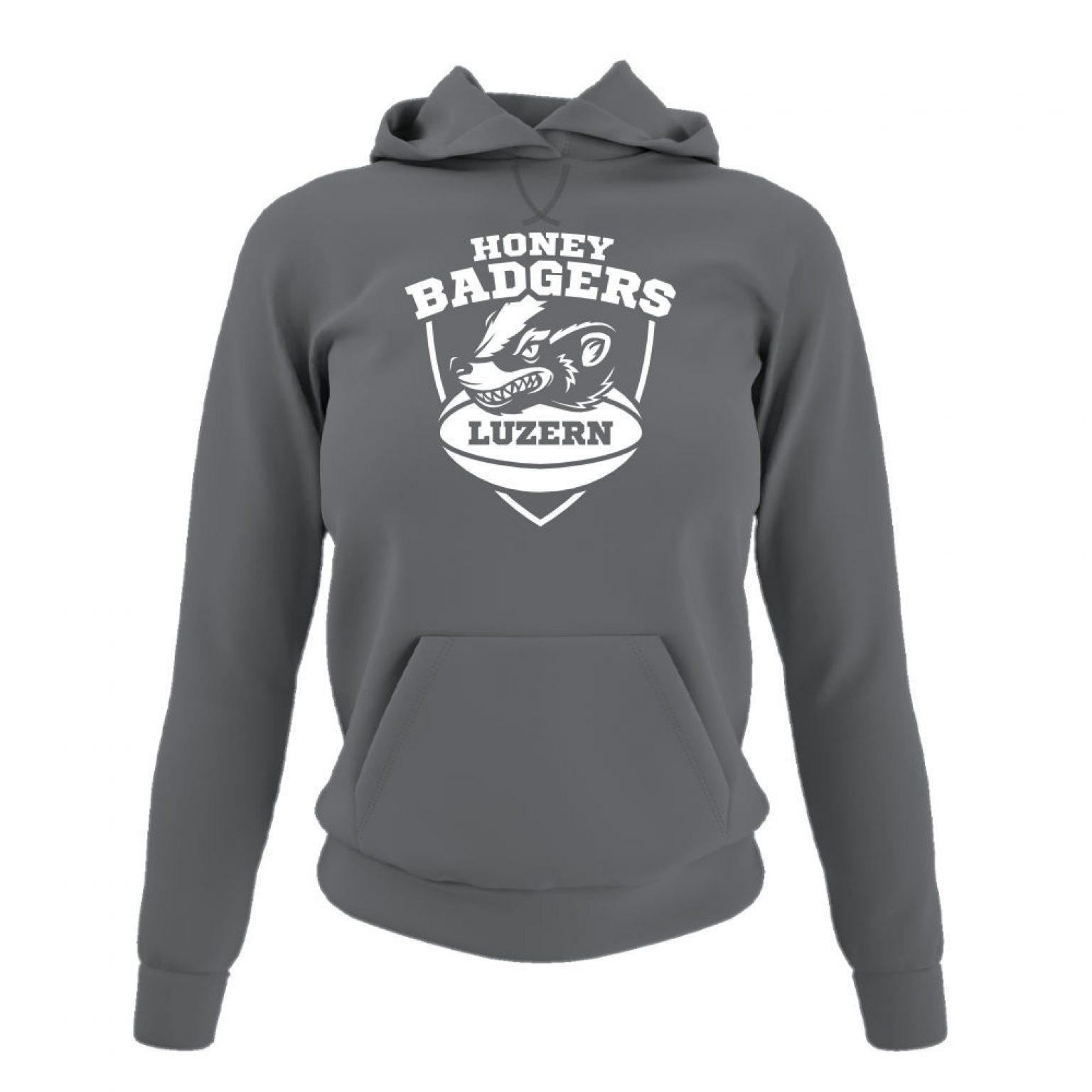 Honeybadgers hoodie damen grey