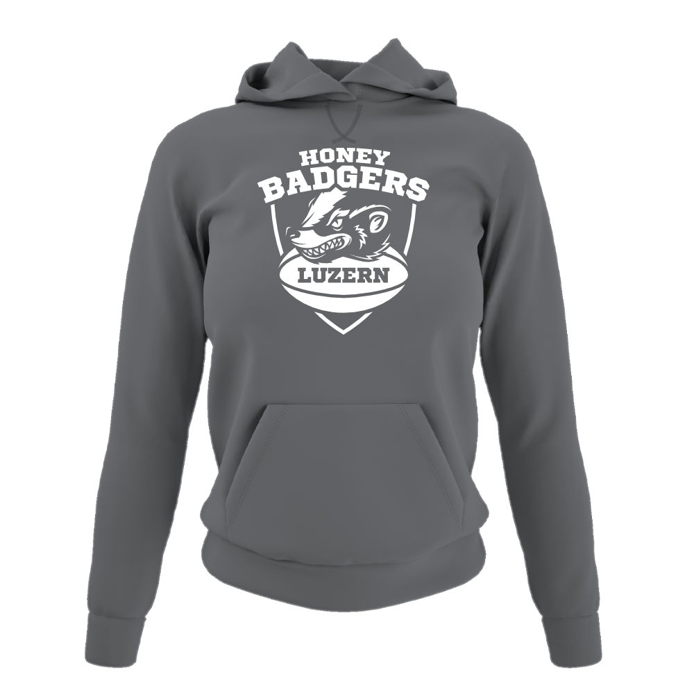Honeybadgers hoodie damen grey