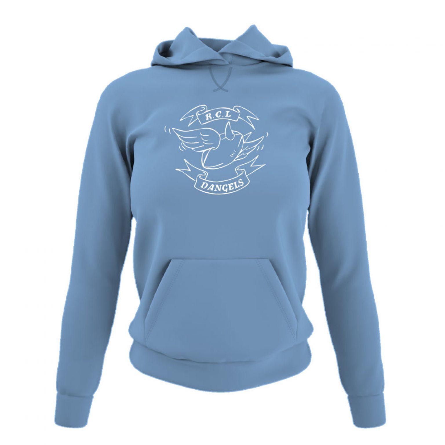 dangelsclassic damen hoodie sky front