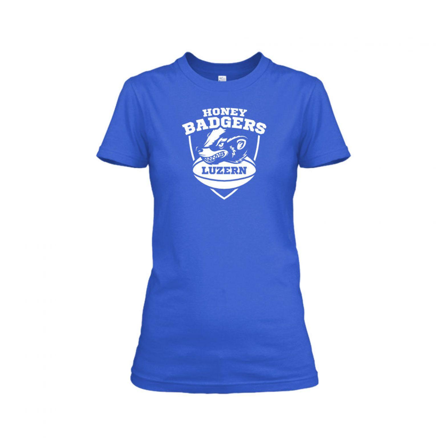 honeybadgerV2 shirt damen blue front