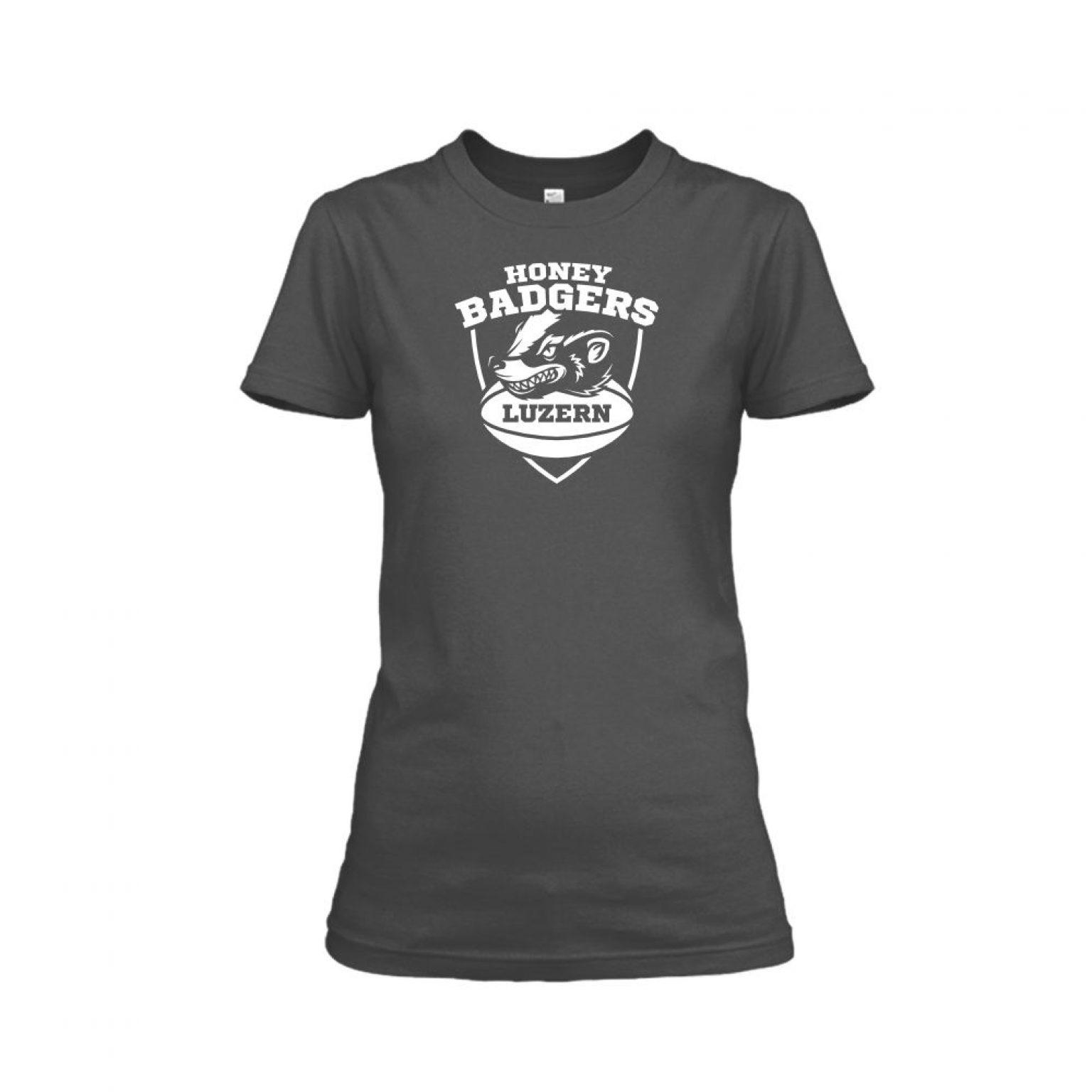 honeybadgerV2 shirt damen charcoal front