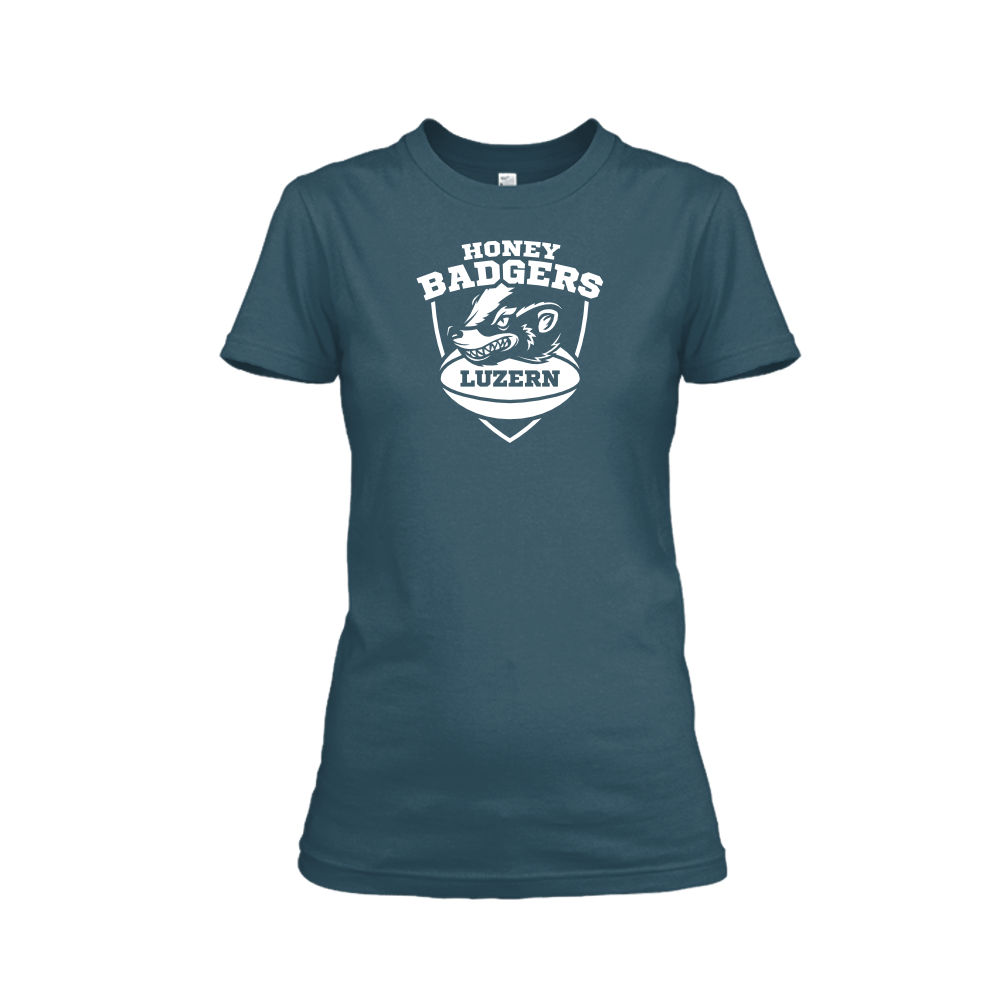 honeybadgerV2 shirt damen navy front