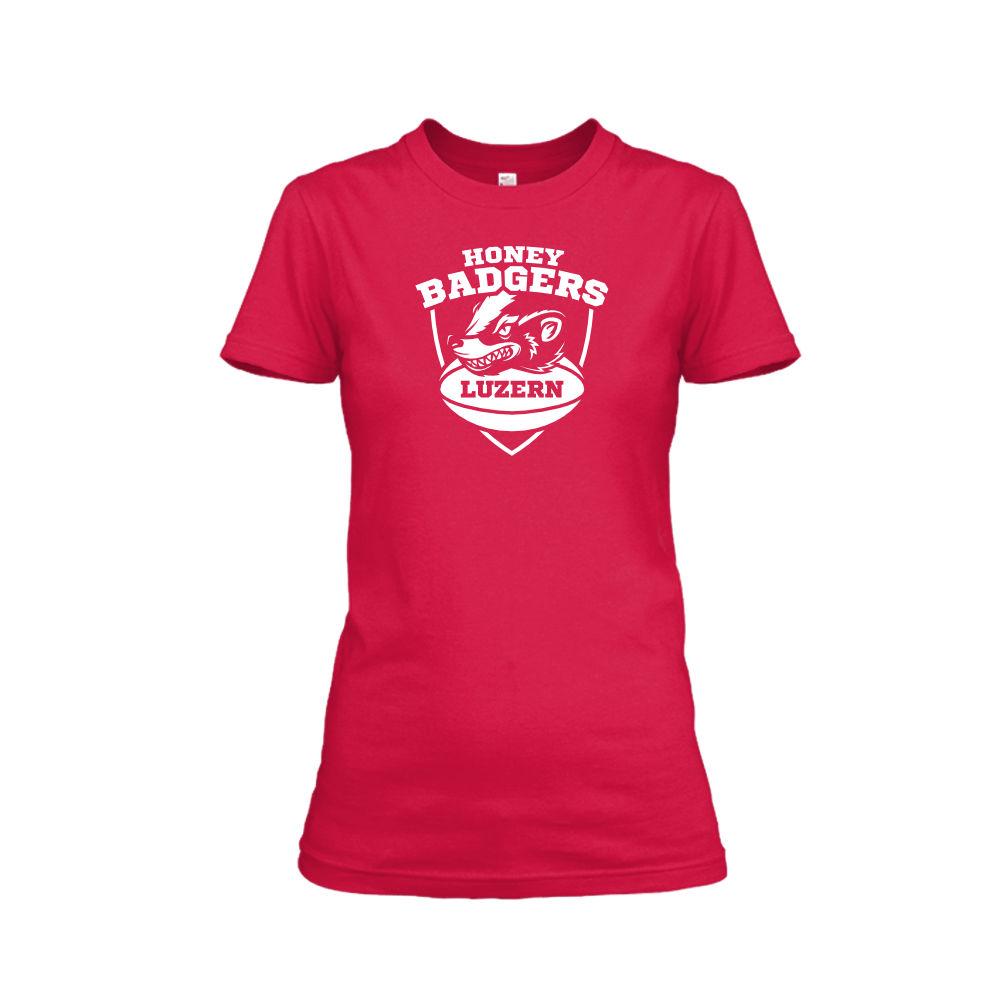 honeybadgerV2 shirt damen red front