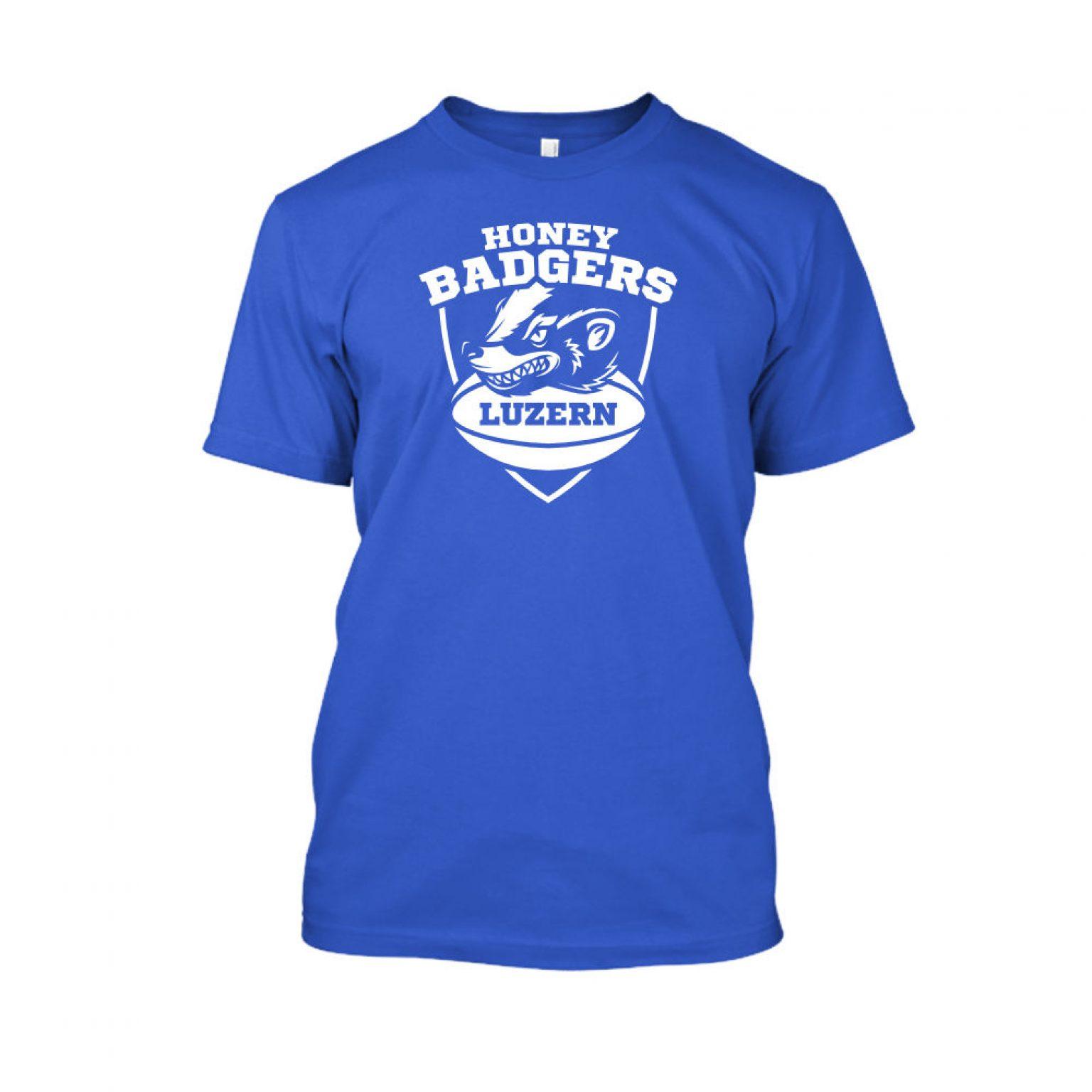 honeybadgerV2 shirt herren BLUE front