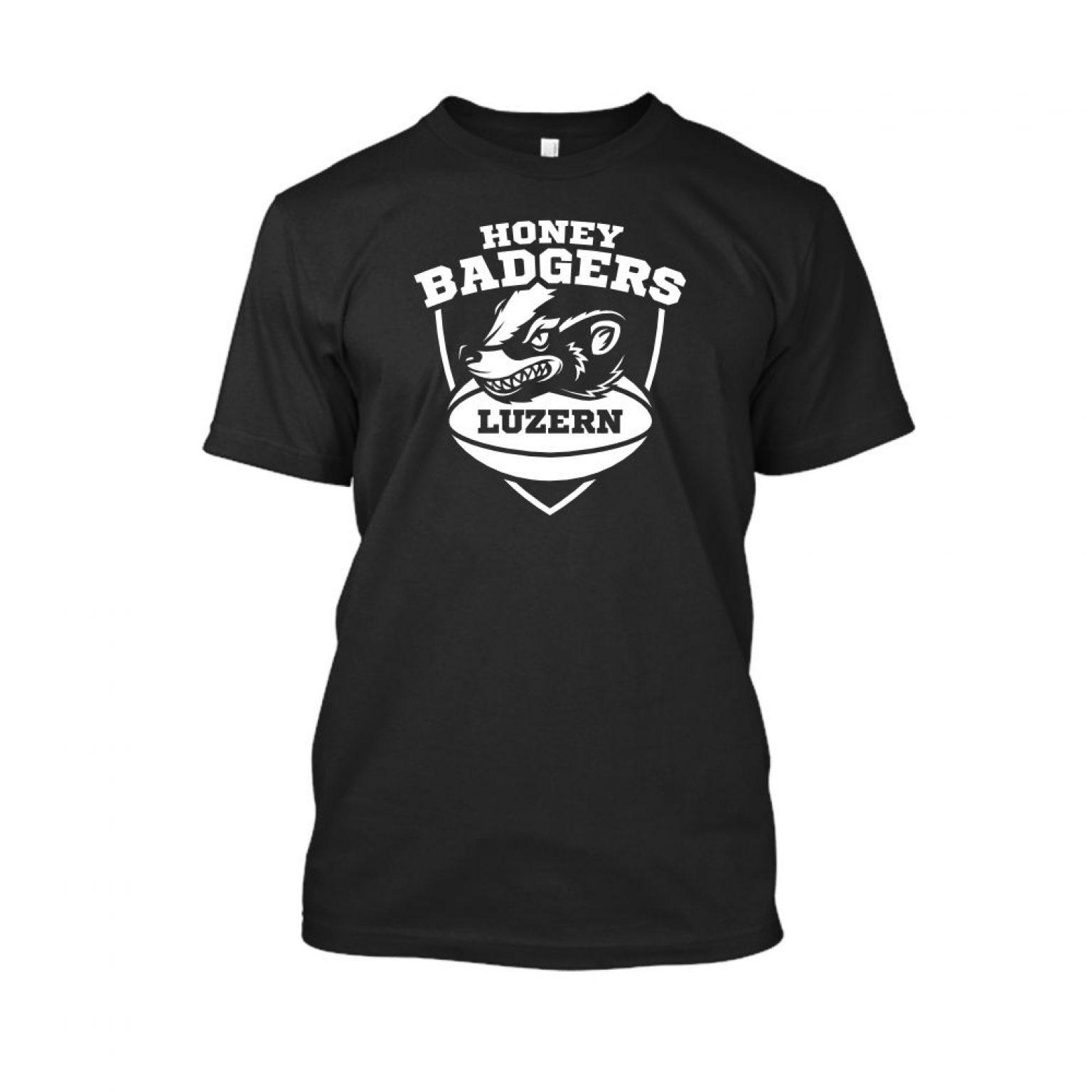 honeybadgerV2 shirt herren black front
