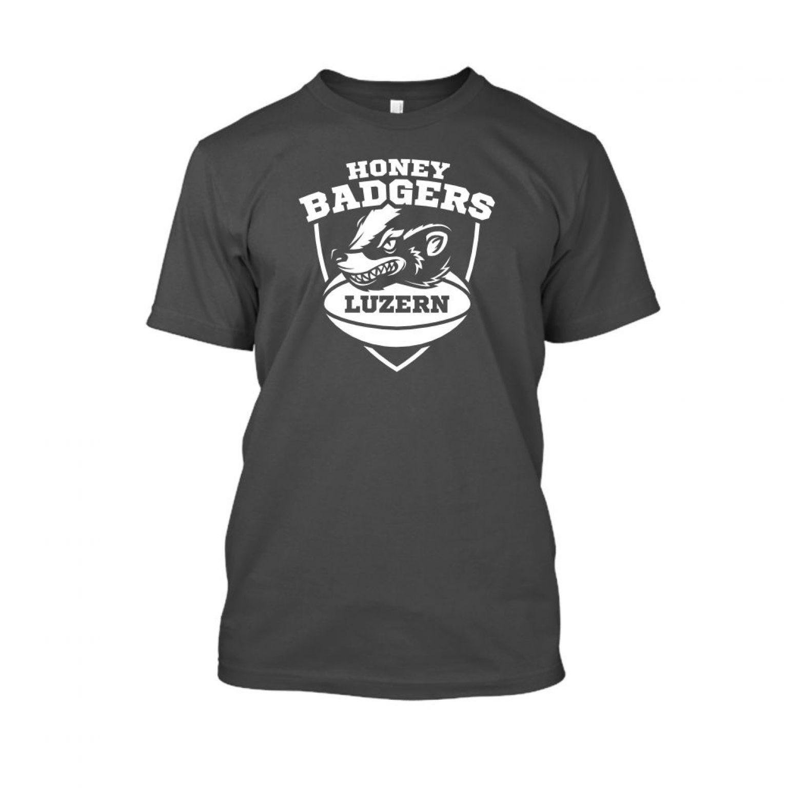 honeybadgerV2 shirt herren charcoal front