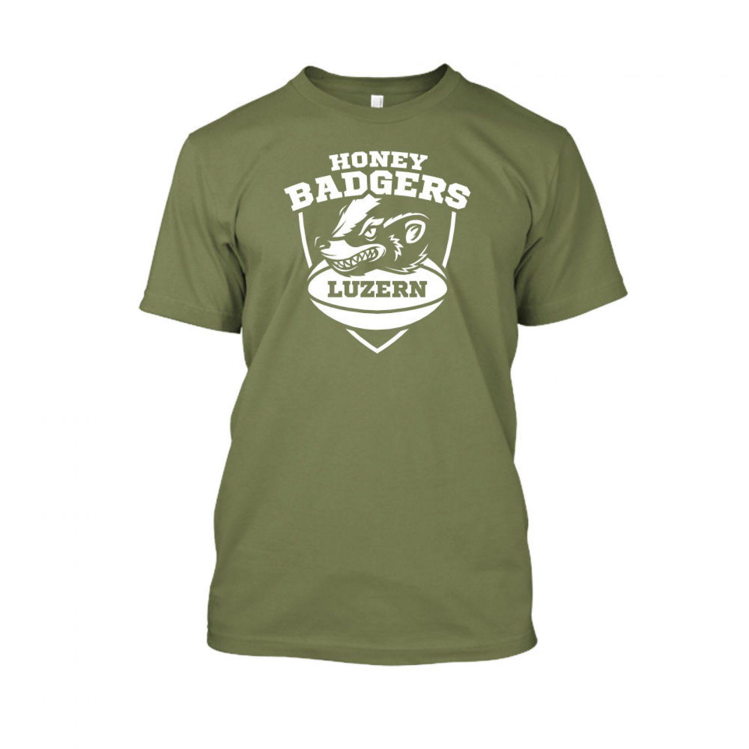honeybadgerV2 shirt herren military front
