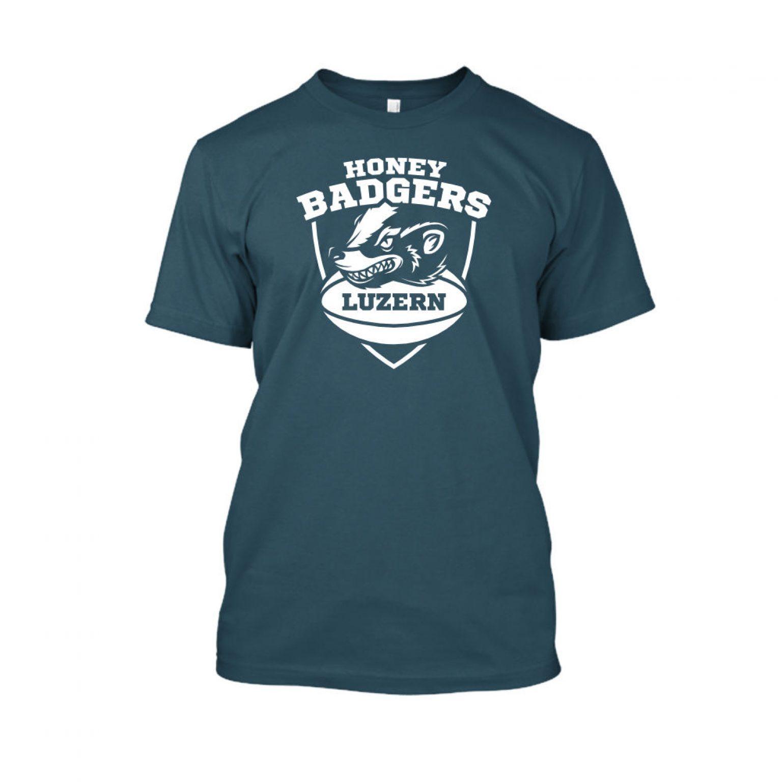 honeybadgerV2 shirt herren navy front