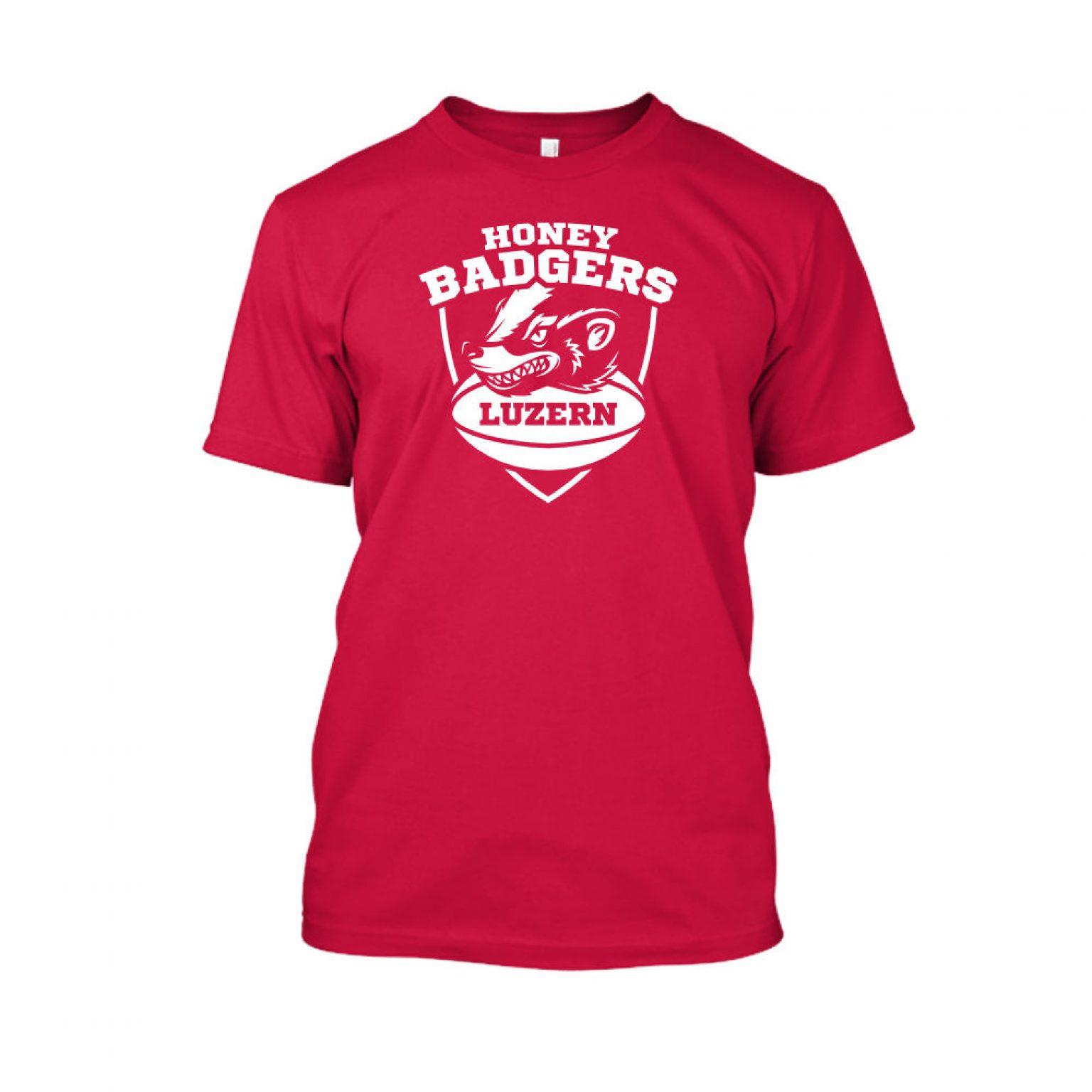 honeybadgerV2 shirt herren red front