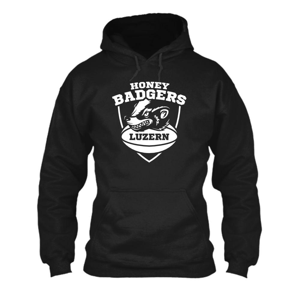 honeybadgers hoodie herren black