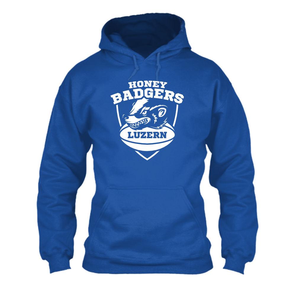 honeybadgers hoodie herren blue