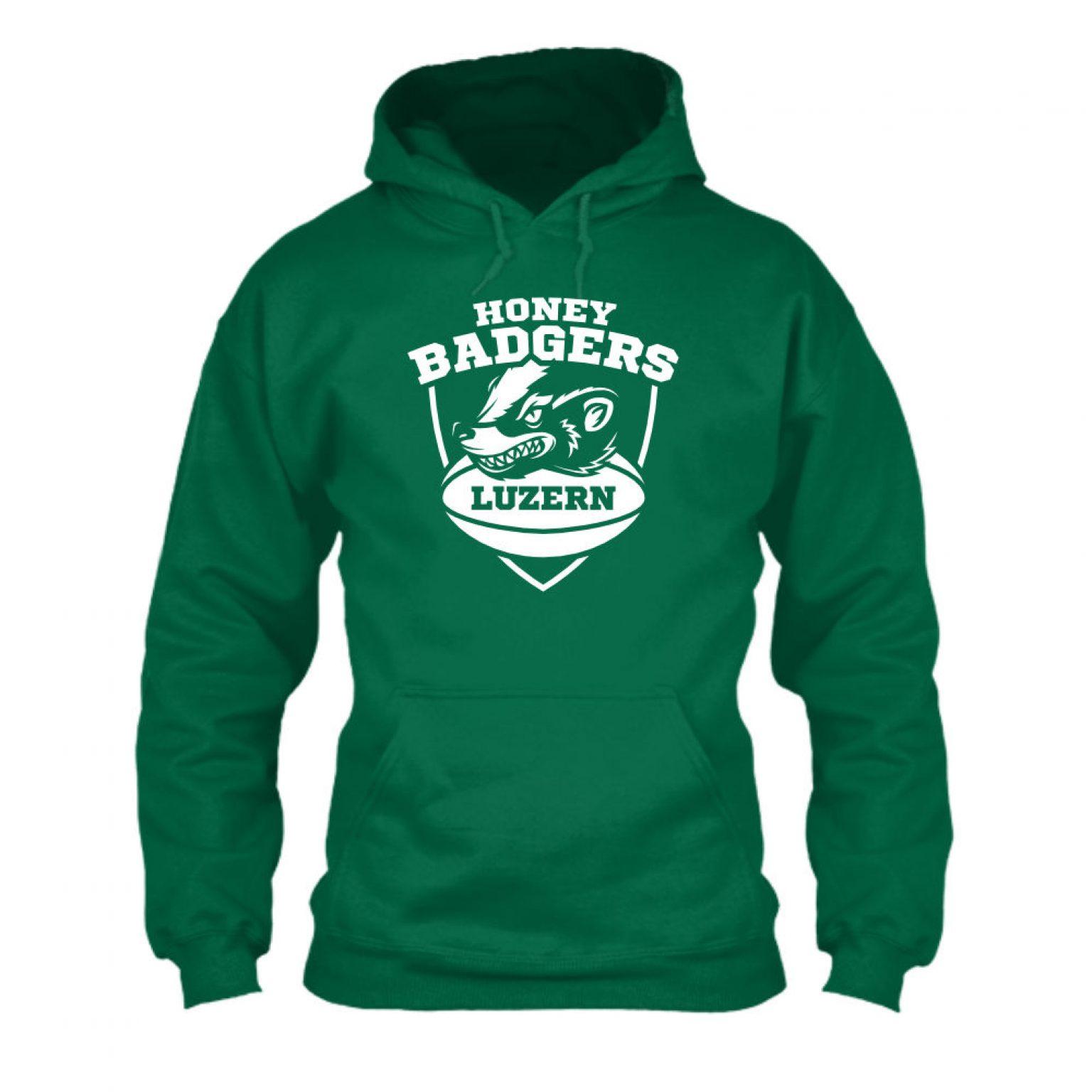 honeybadgers hoodie herren green