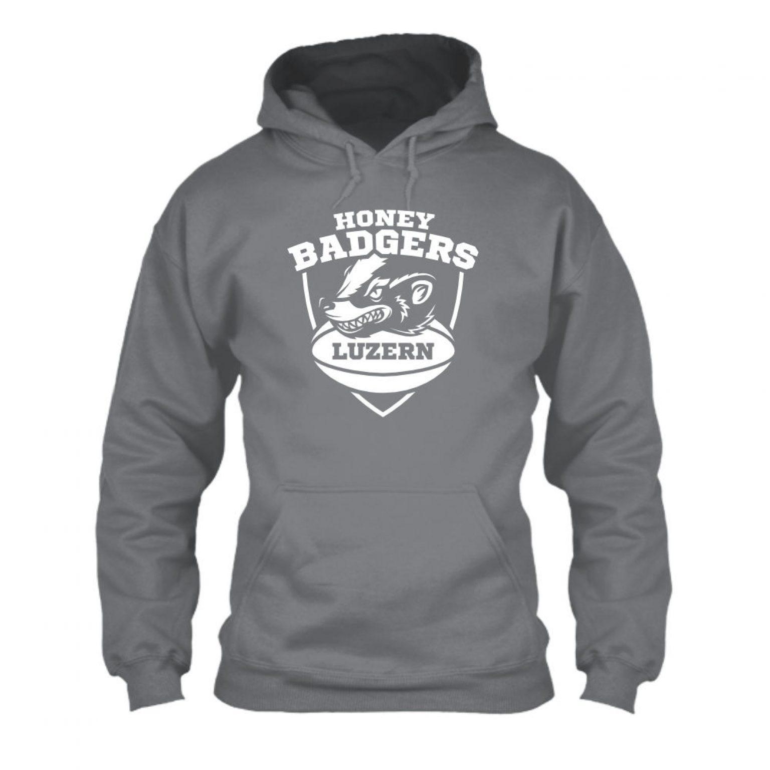 honeybadgers hoodie herren grey