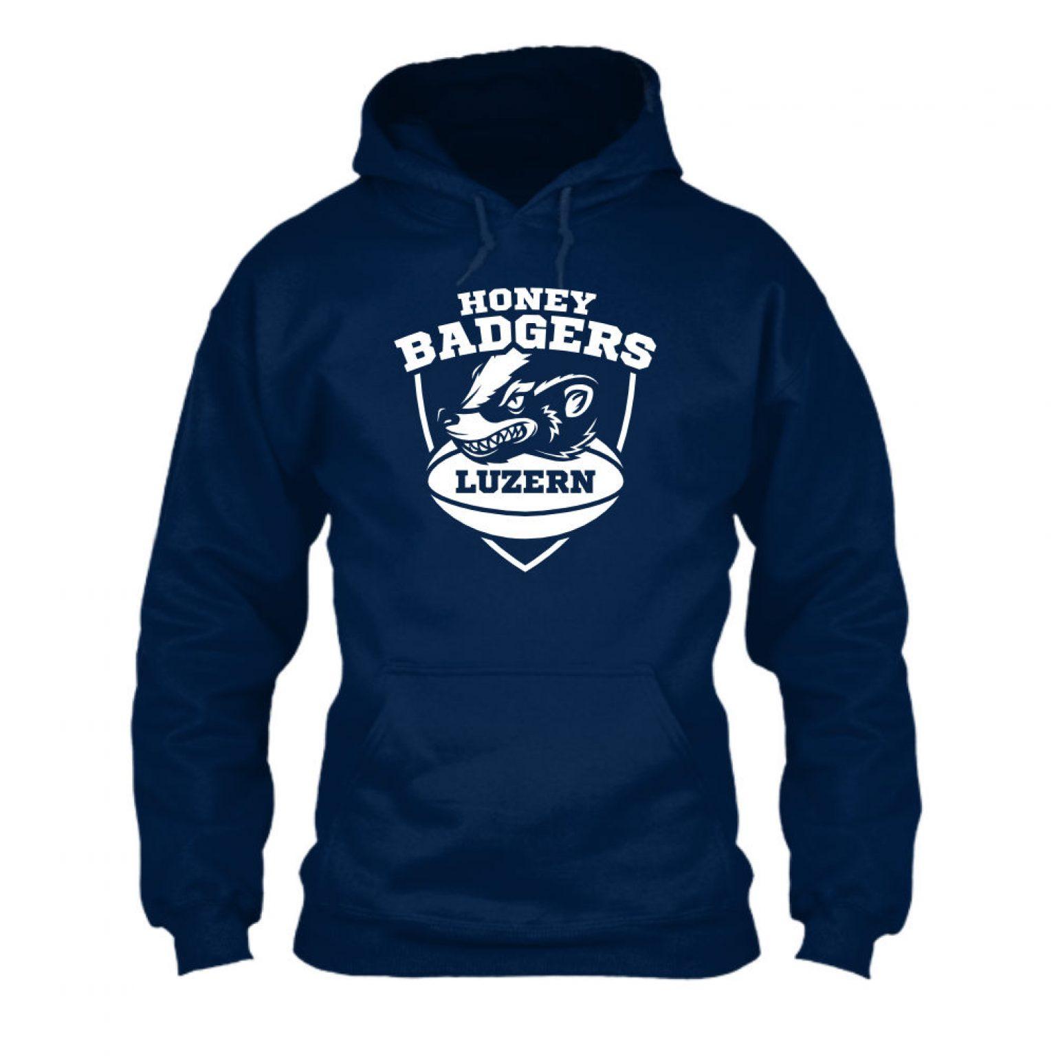 honeybadgers hoodie herren navy