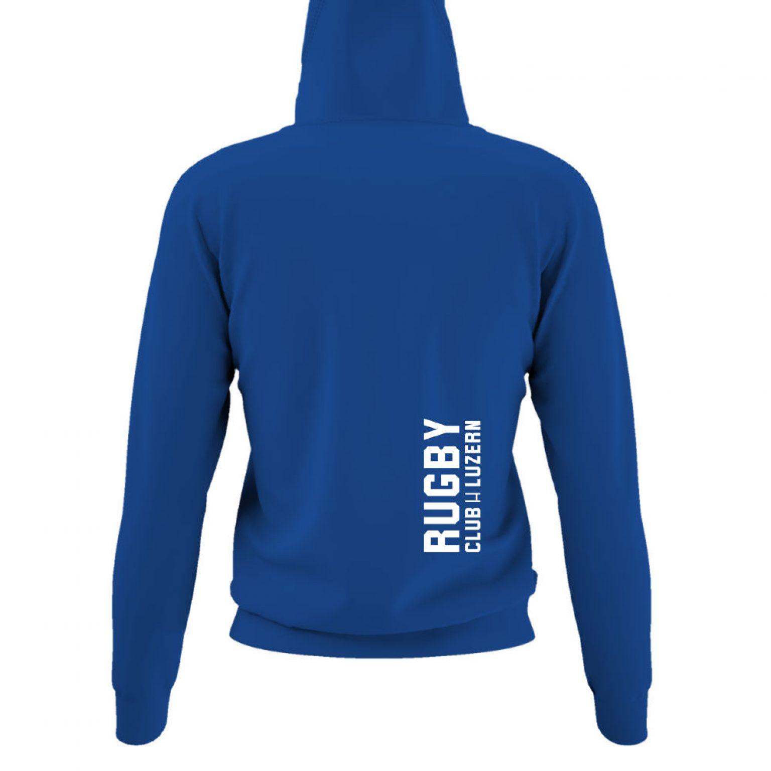 hoodie damen back blue