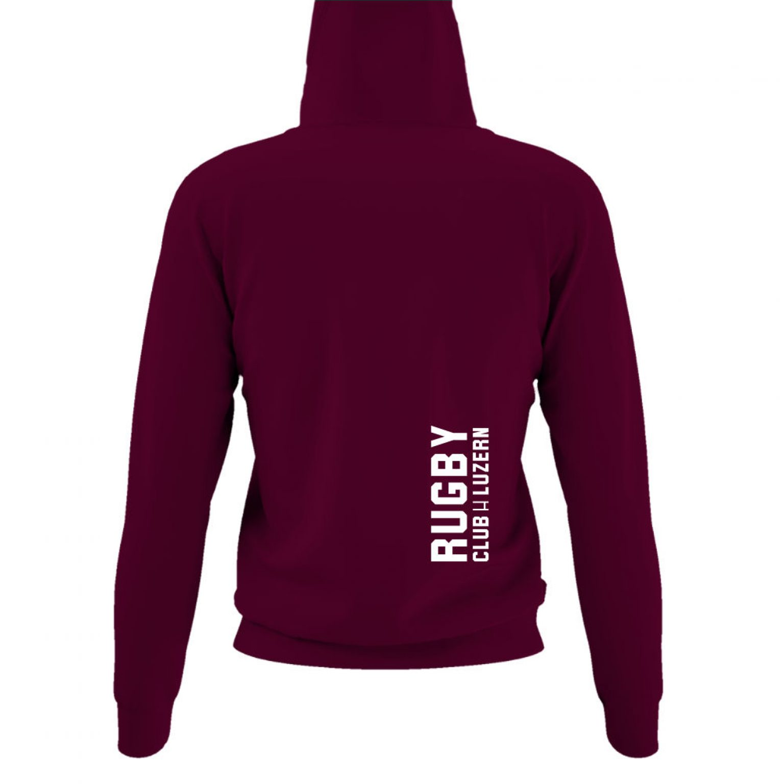 hoodie damen back burgundy