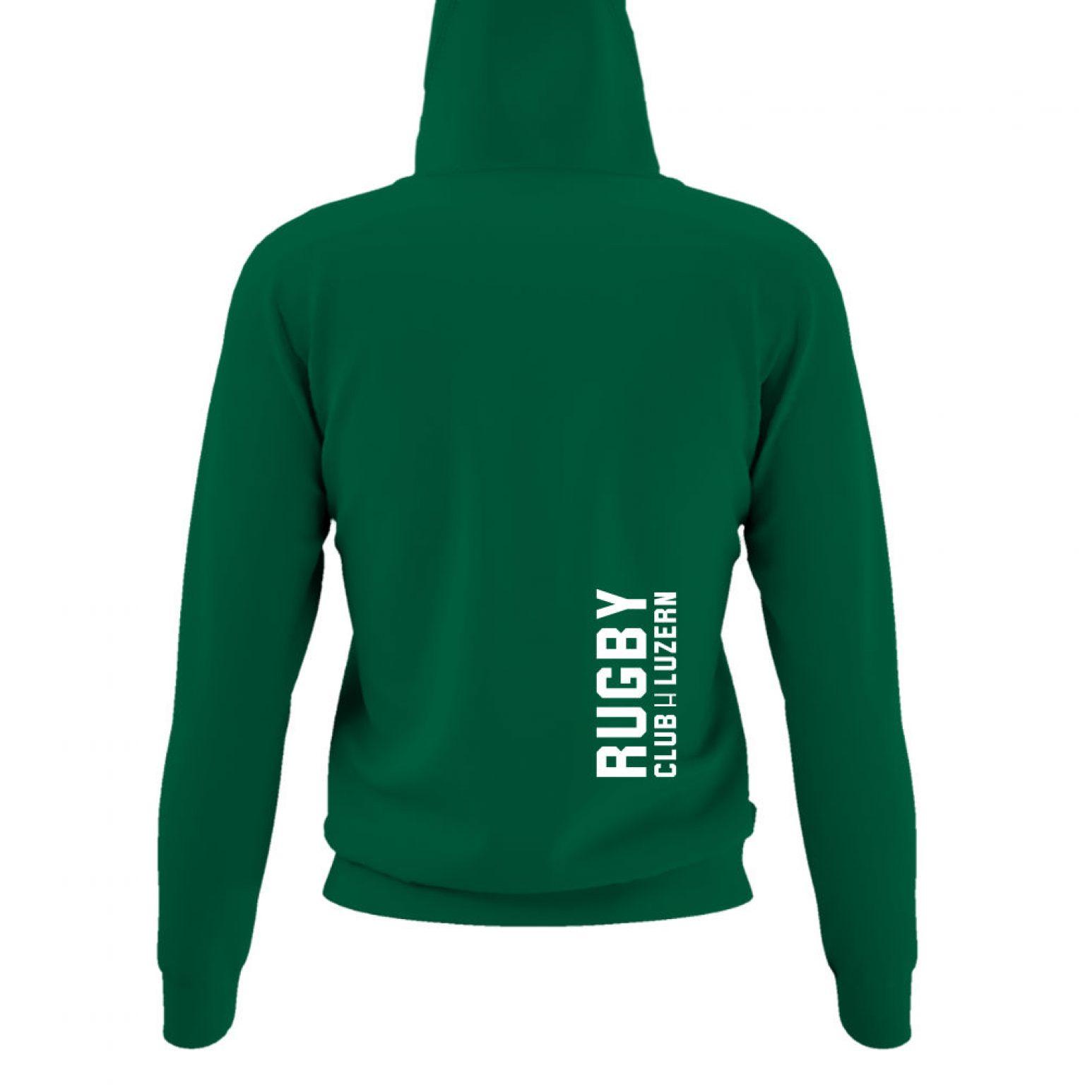 hoodie damen back green