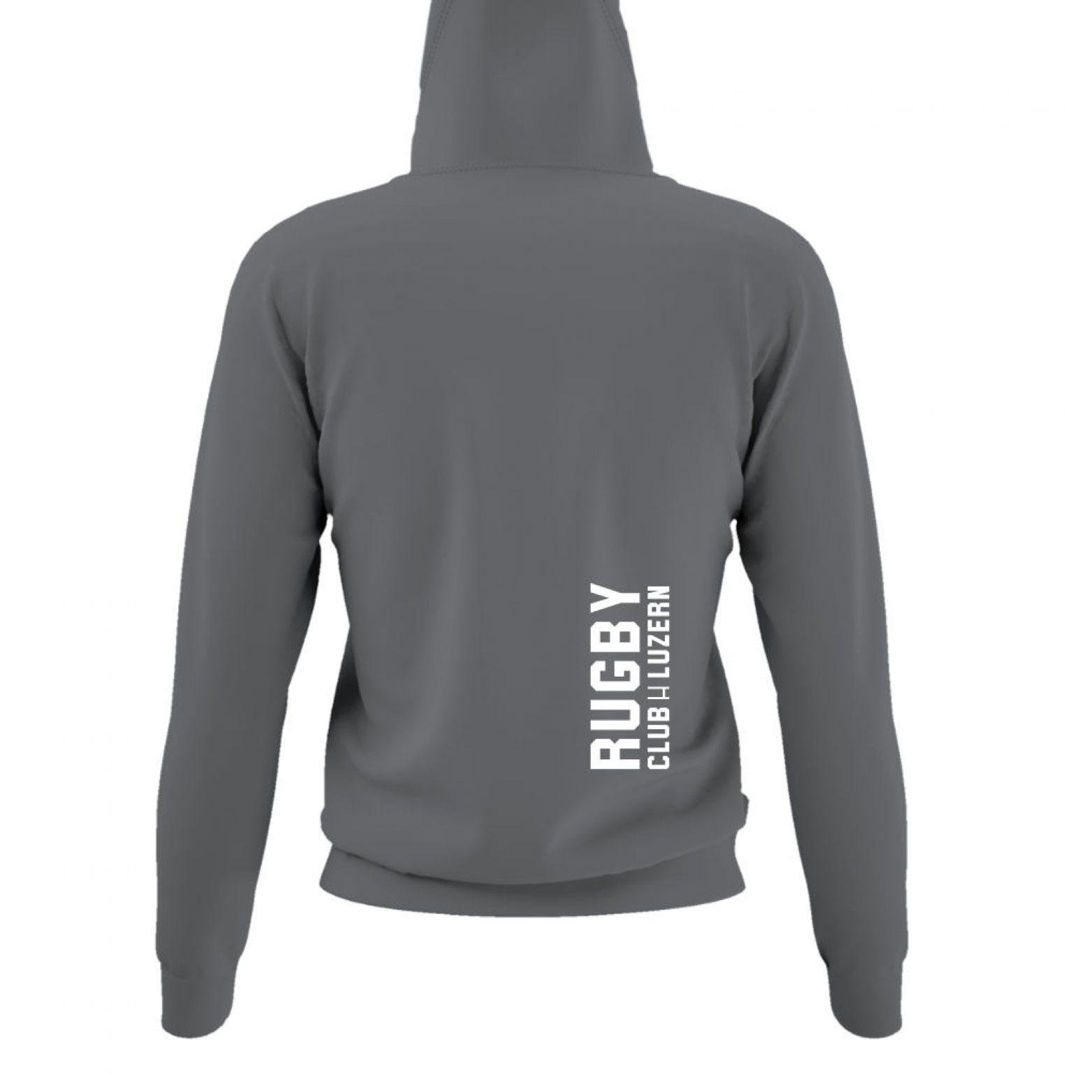 hoodie damen back grey