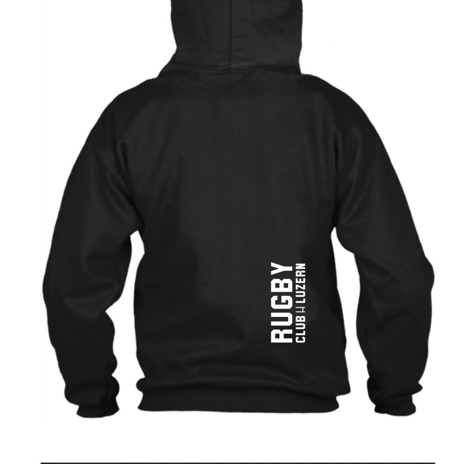 hoodie herren back black