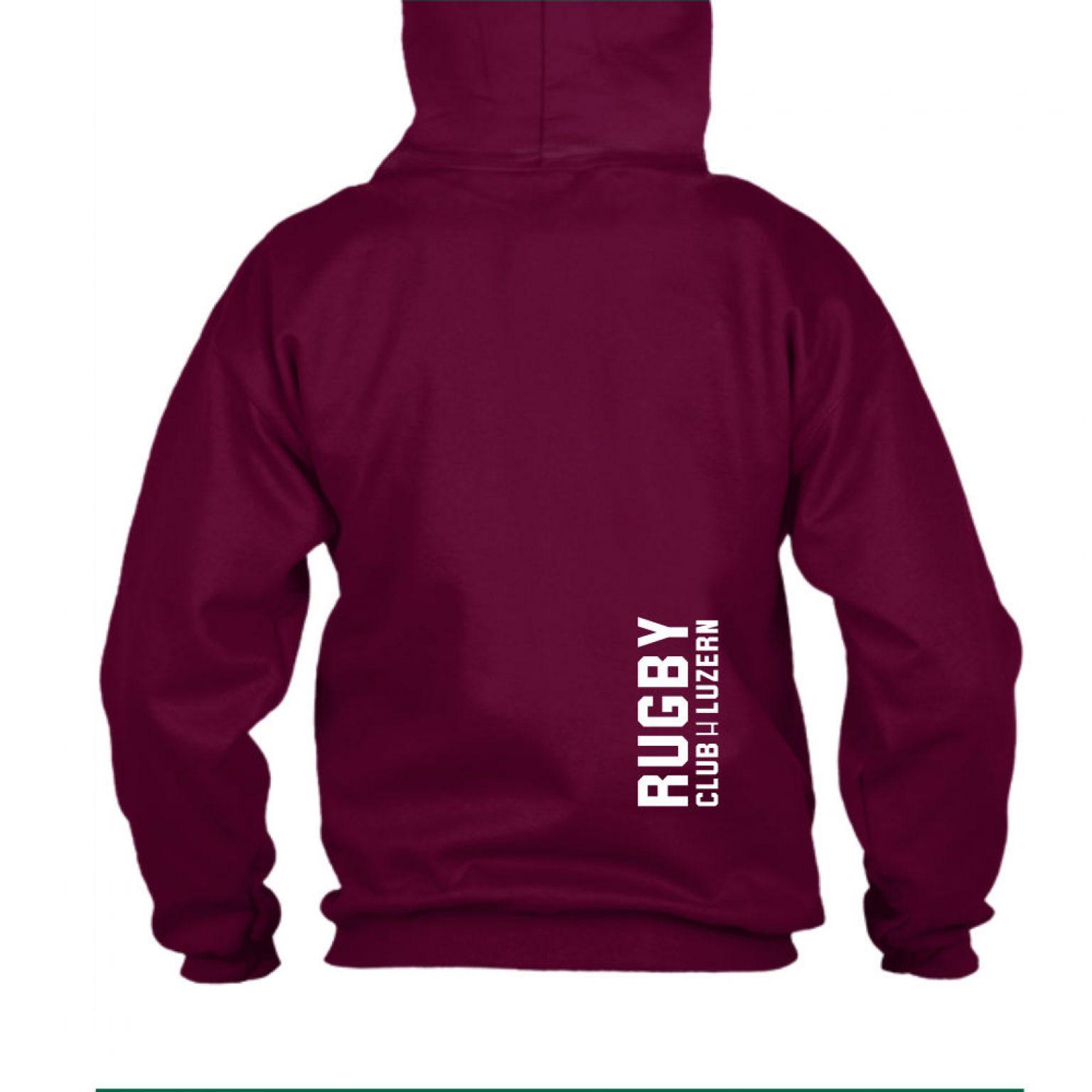 hoodie herren back burgundy