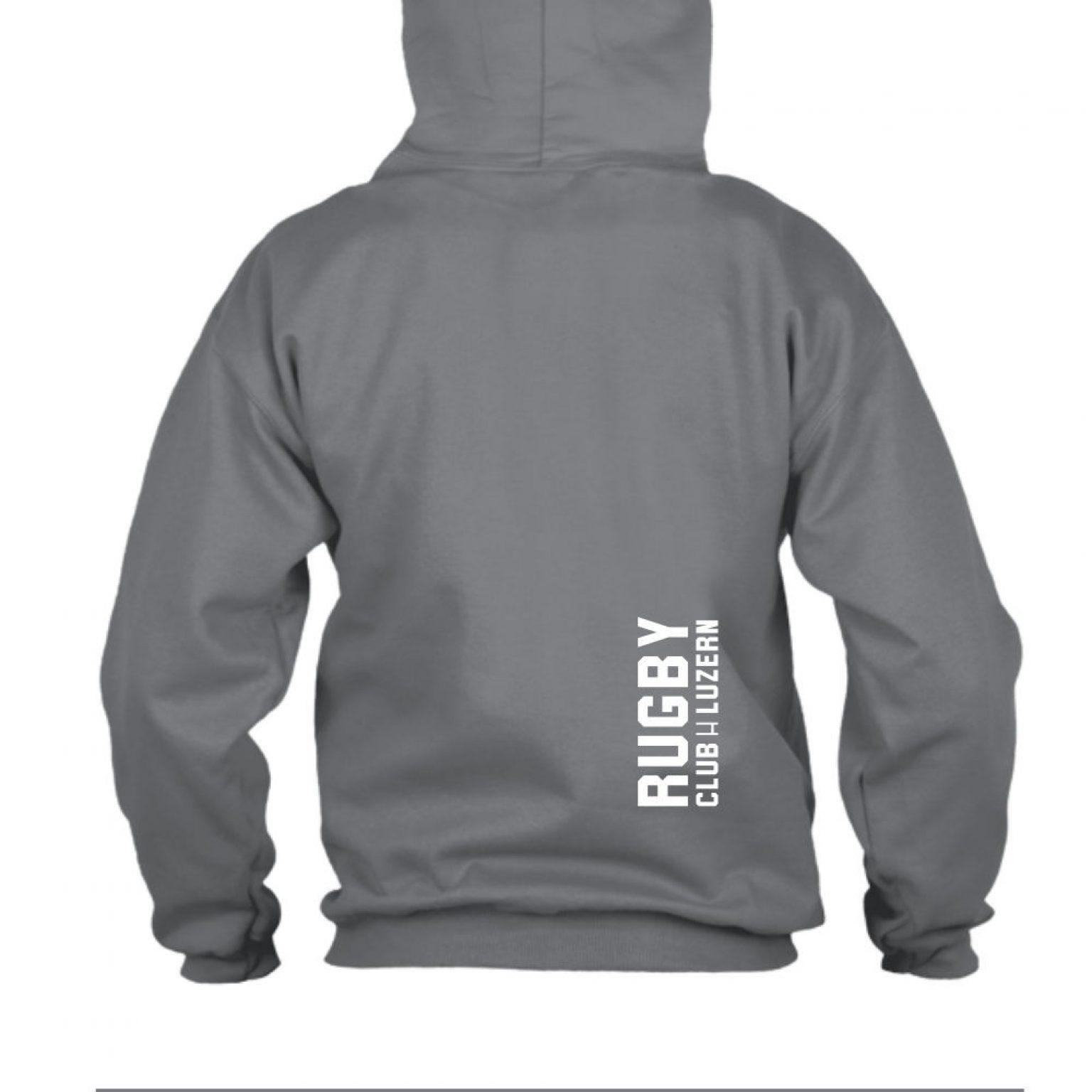 hoodie herren back grey