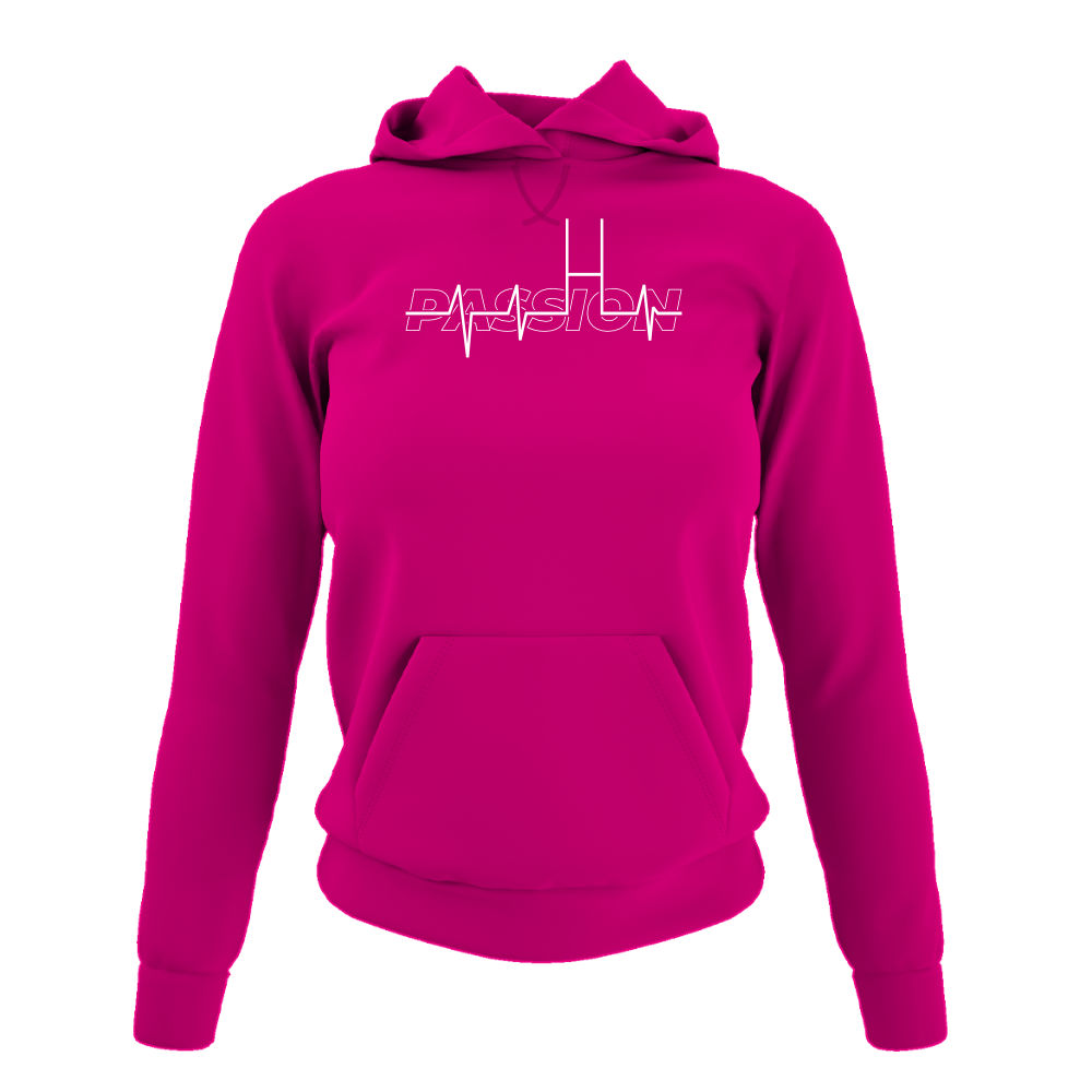 passion hoodie damen fuchsia front