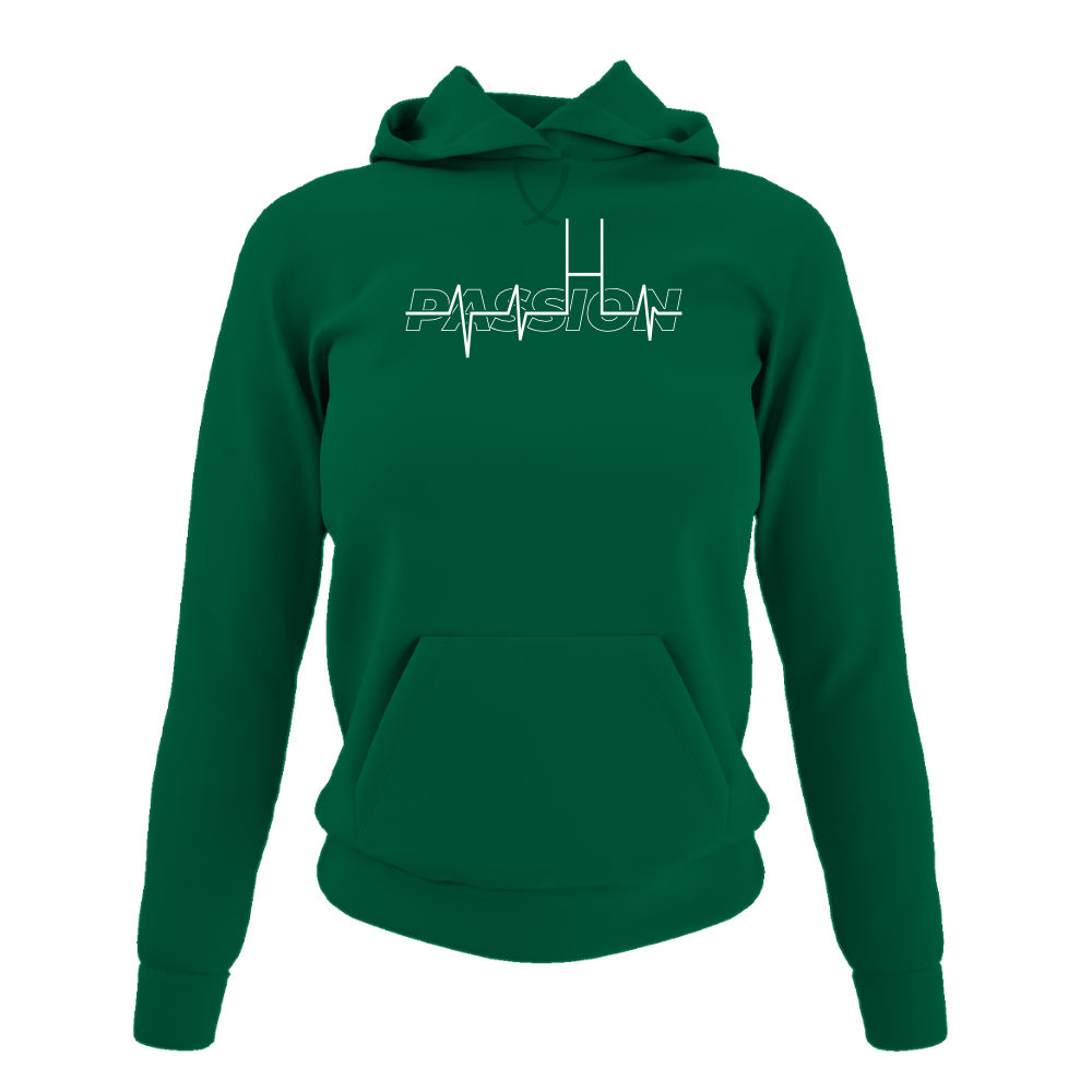 passion hoodie damen green front