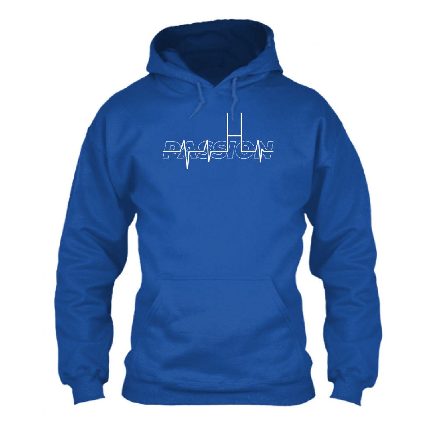passion hoodie herren blue front