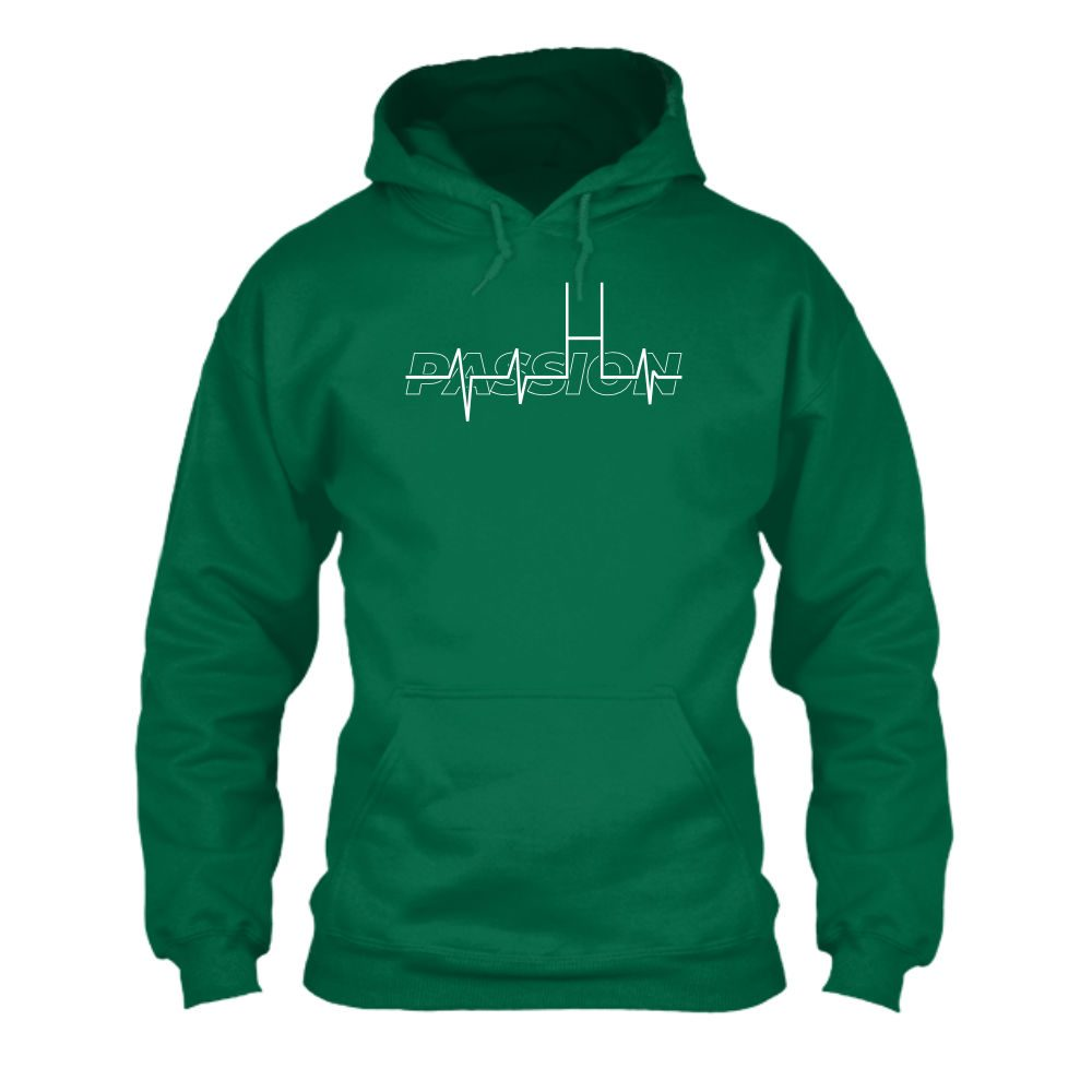 passion hoodie herren green front