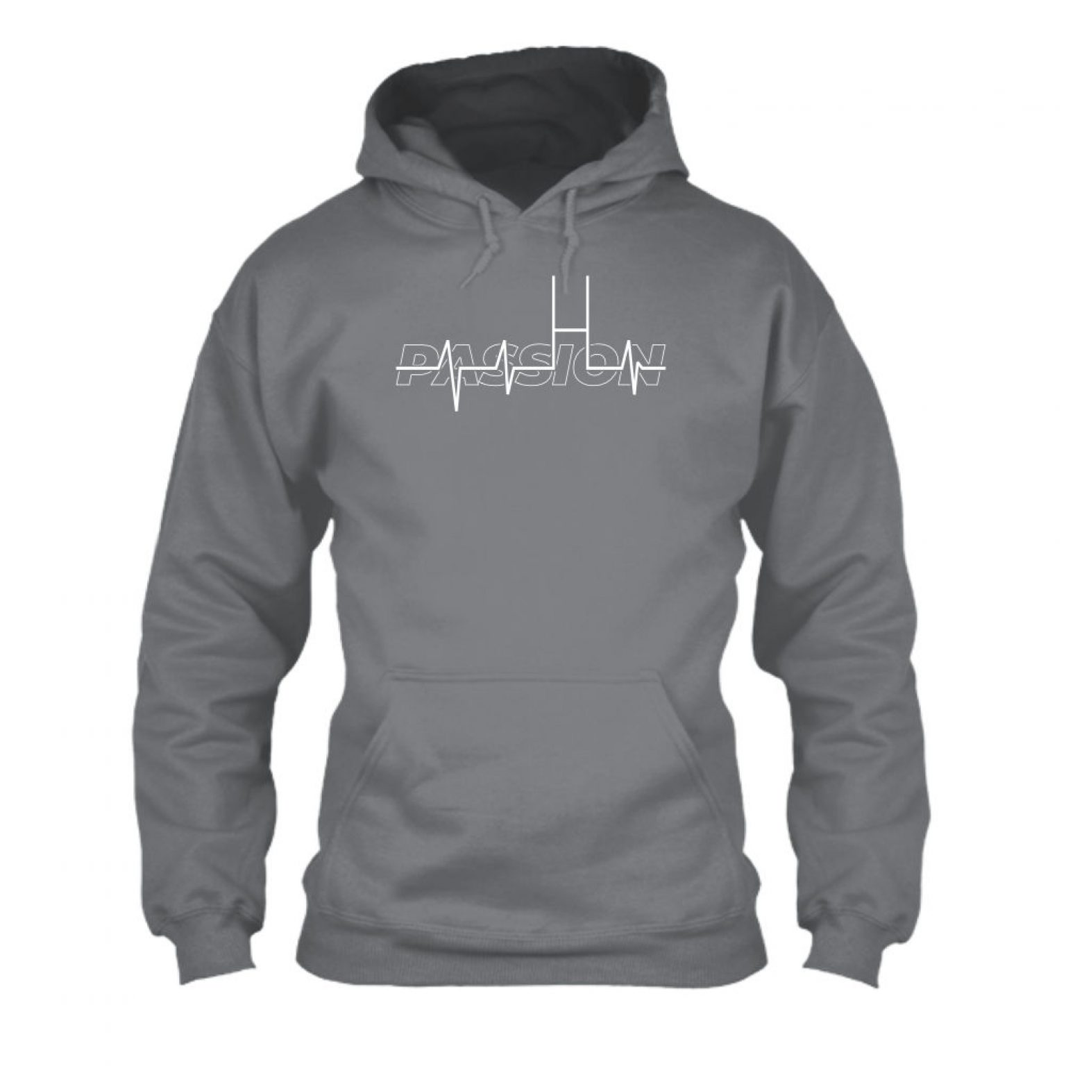 passion hoodie herren grey front