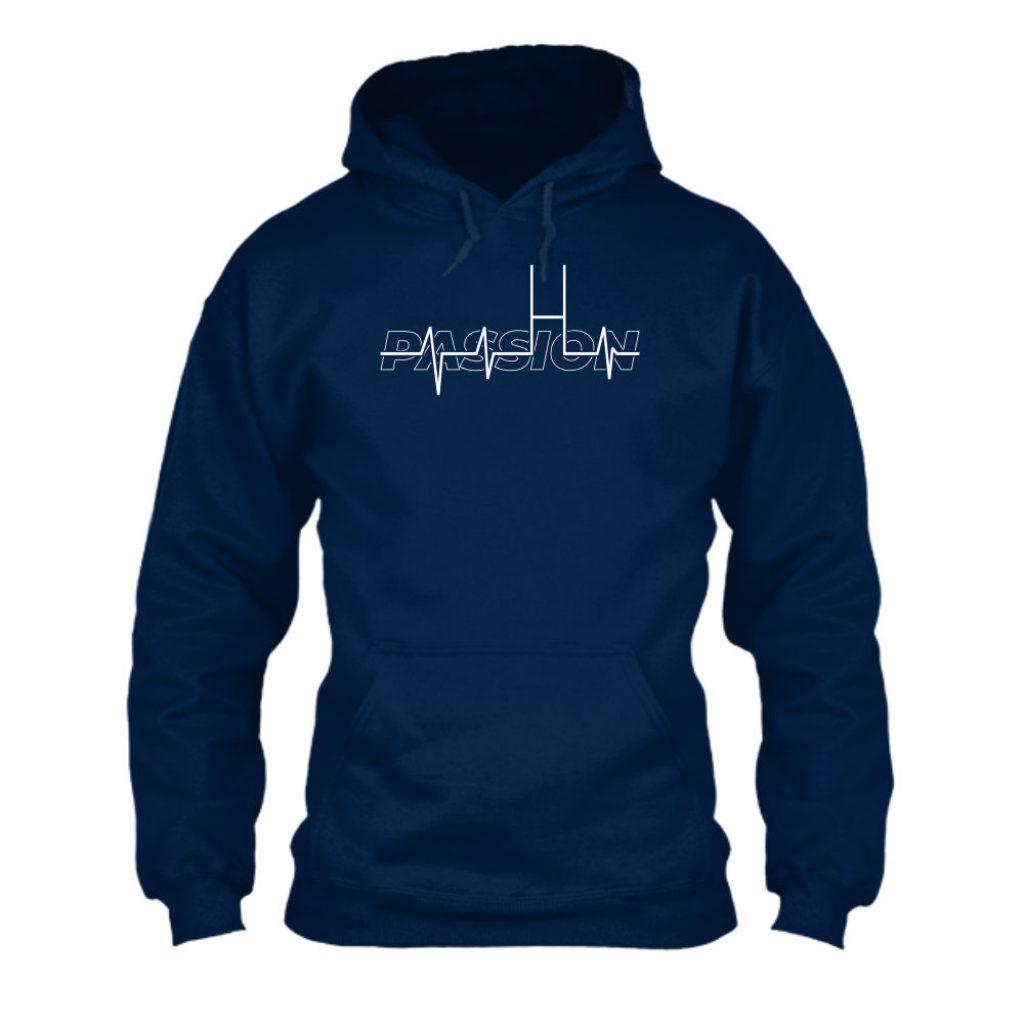 passion hoodie herren navy front